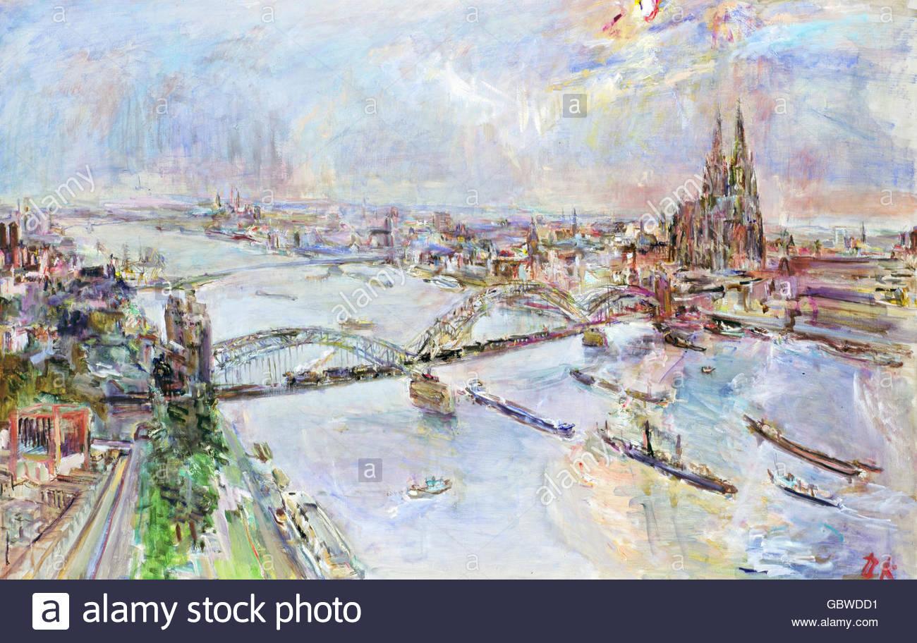 Künstler Köln bildende kunst kokoschka oskar 1886 1980 malerei ansicht der