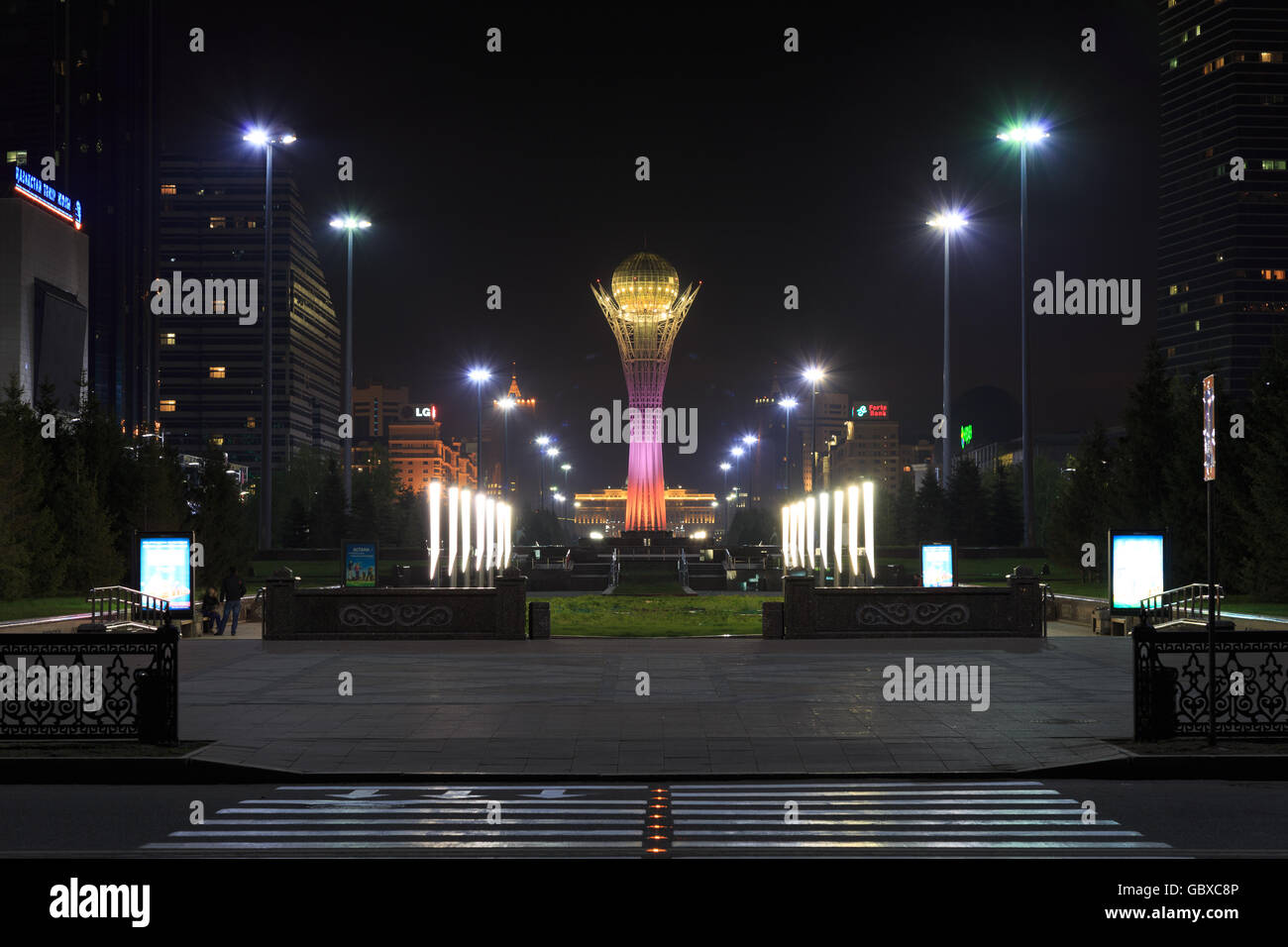 bayterek tower landmark kazakhstan stockfotos bayterek. Black Bedroom Furniture Sets. Home Design Ideas