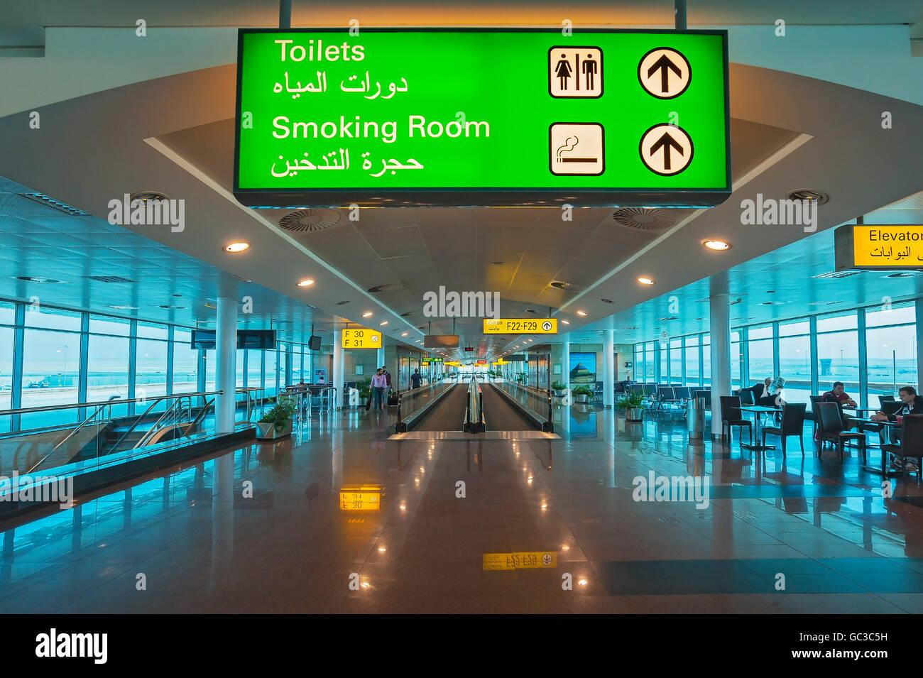 Fahrsteig Und Zeichen Am Flughafen Marsa Alam International Airport