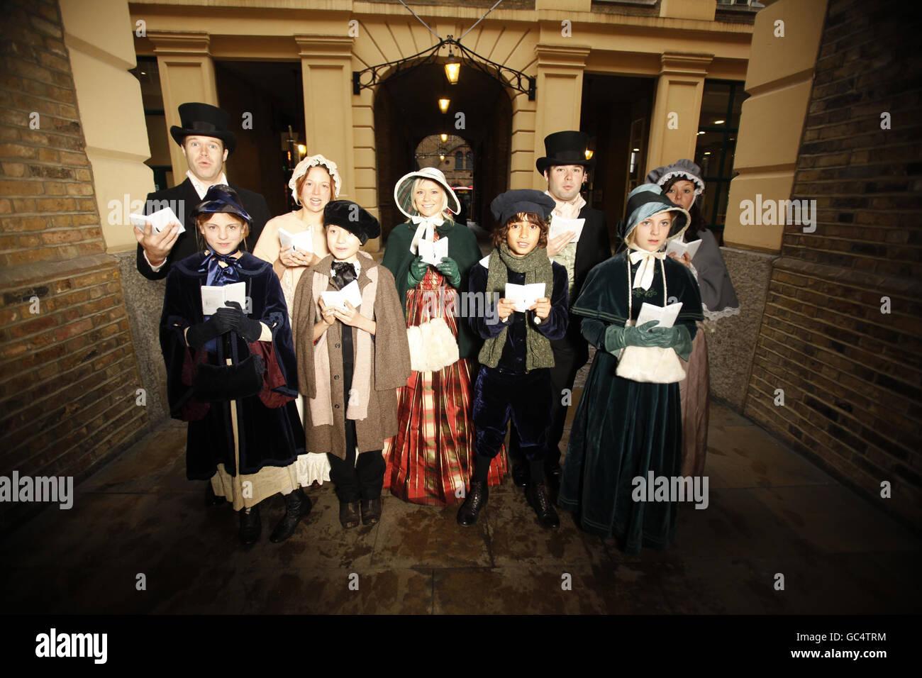 Accompanied By Dickensian Carol Singers Stockfotos & Accompanied By ...