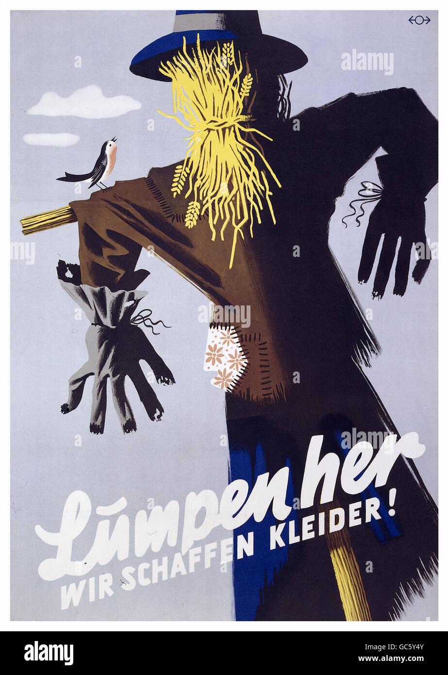 Nachkriegszeit, Deutschland, Rekonstruktion, Plakat \