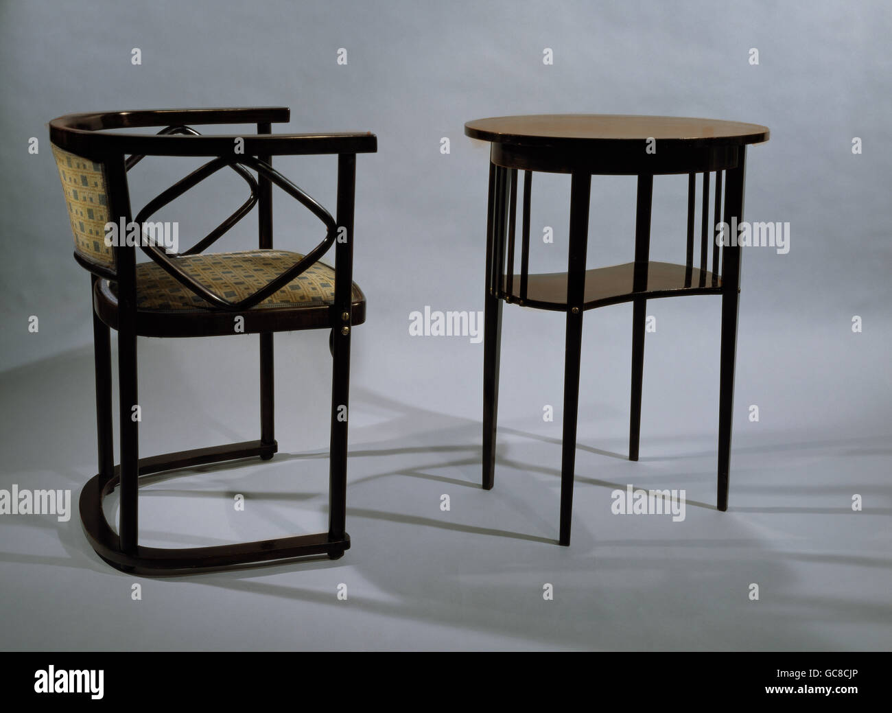 Einrichtung Möbel Jugendstil Stuhl Höhe 755 Cm Ovaler Tisch