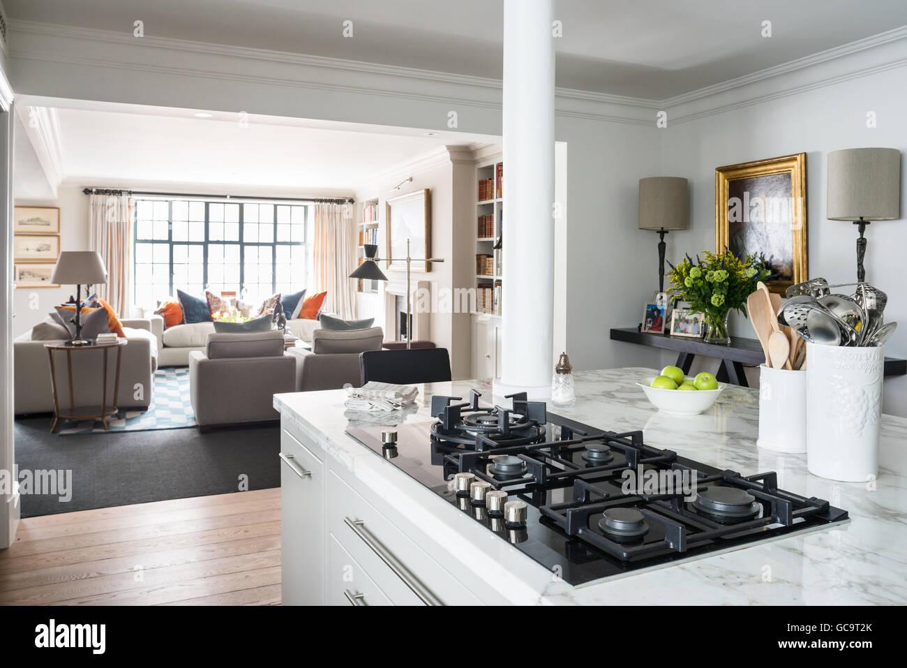 Offene moderne Küche, entworfen von Stephanie mahnen im Raum mit ...