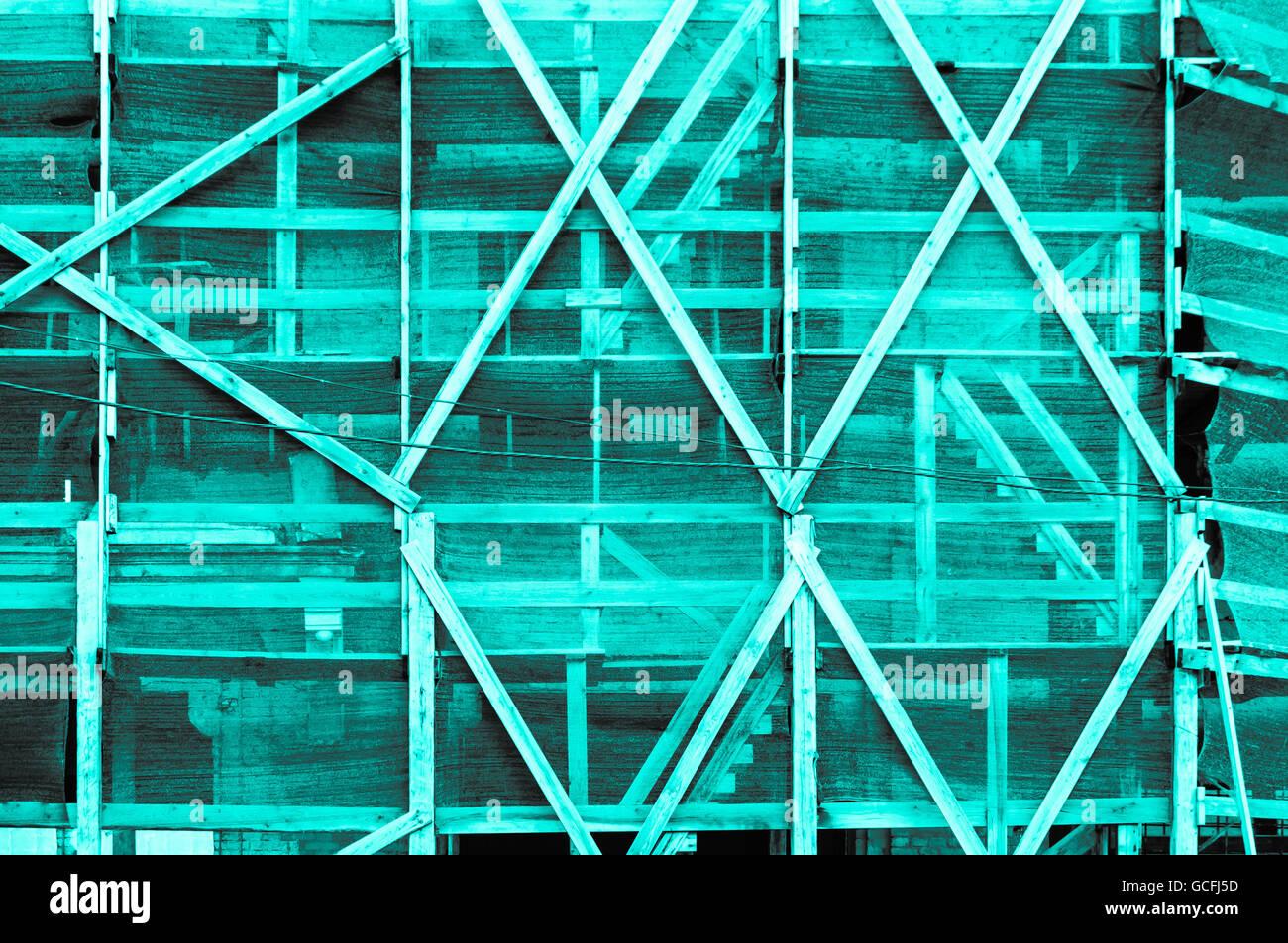Beeindruckende Türkis grau Graustufen Rahmen außerhalb einer ukrainischen Baustil Stockbild