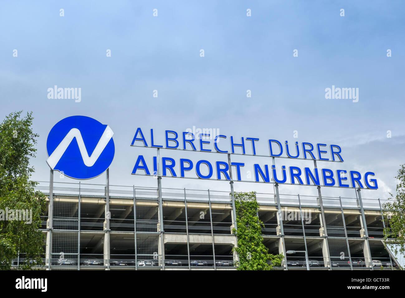 Albrecht Dürer Airport Nürnberg, Deutschland Stockbild