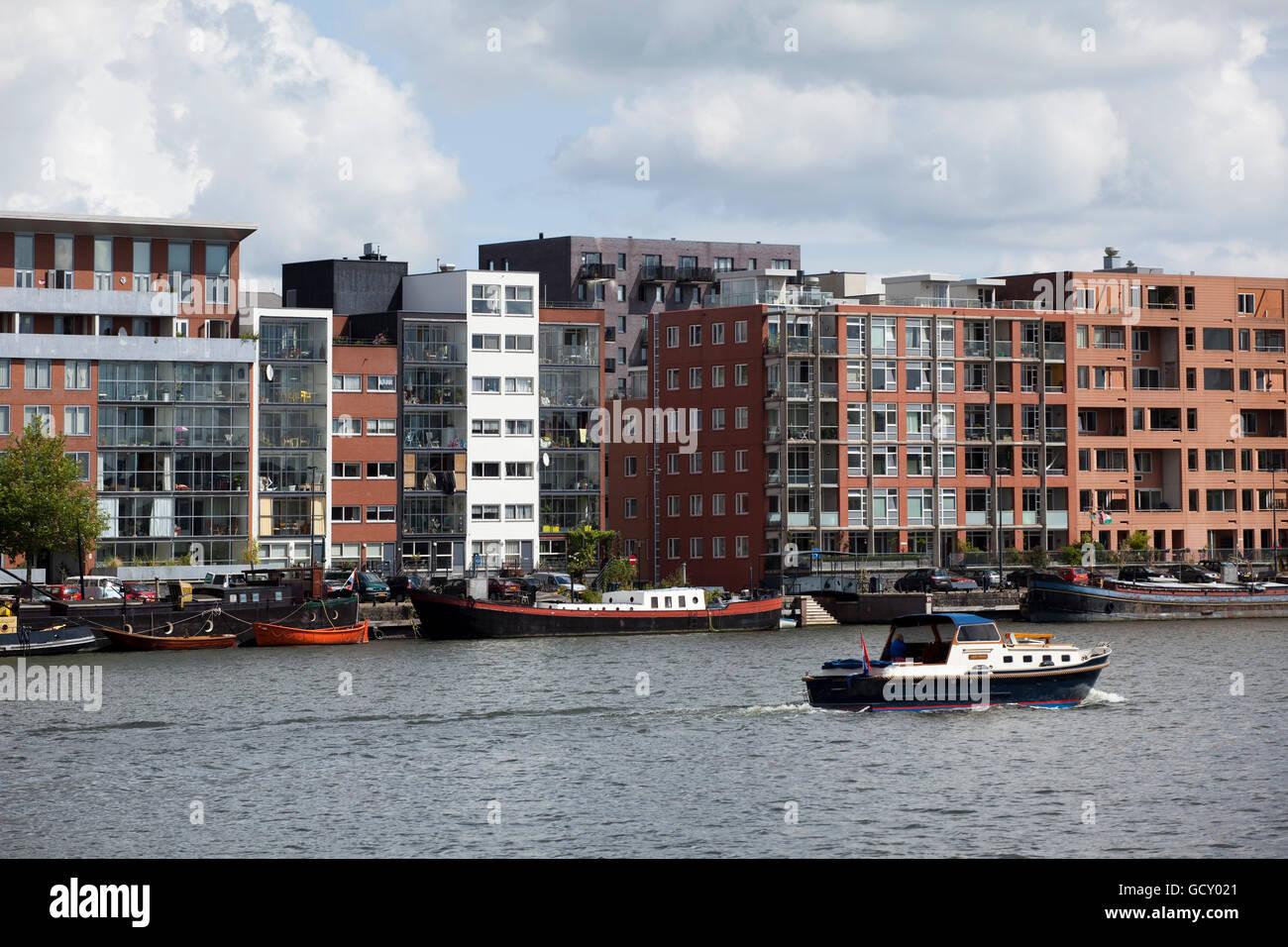 Den letzten Wohnungsbau auf Java Insel, künstliche Insel, Amsterdam, Holland Region, Niederlande, Europa Stockbild
