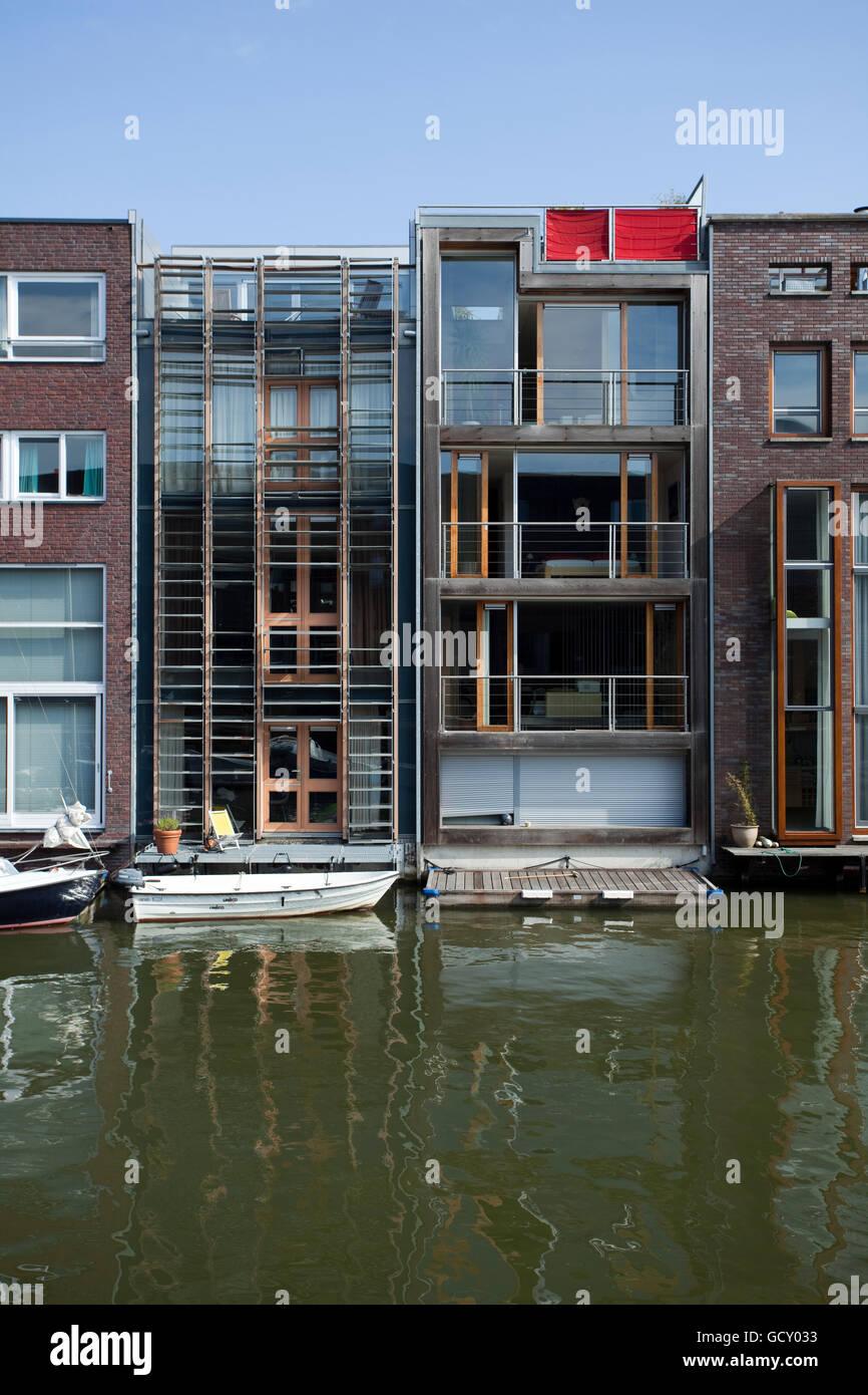 Modernen Grachtenhäuser auf Borneo Insel, Amsterdam, Holland ...