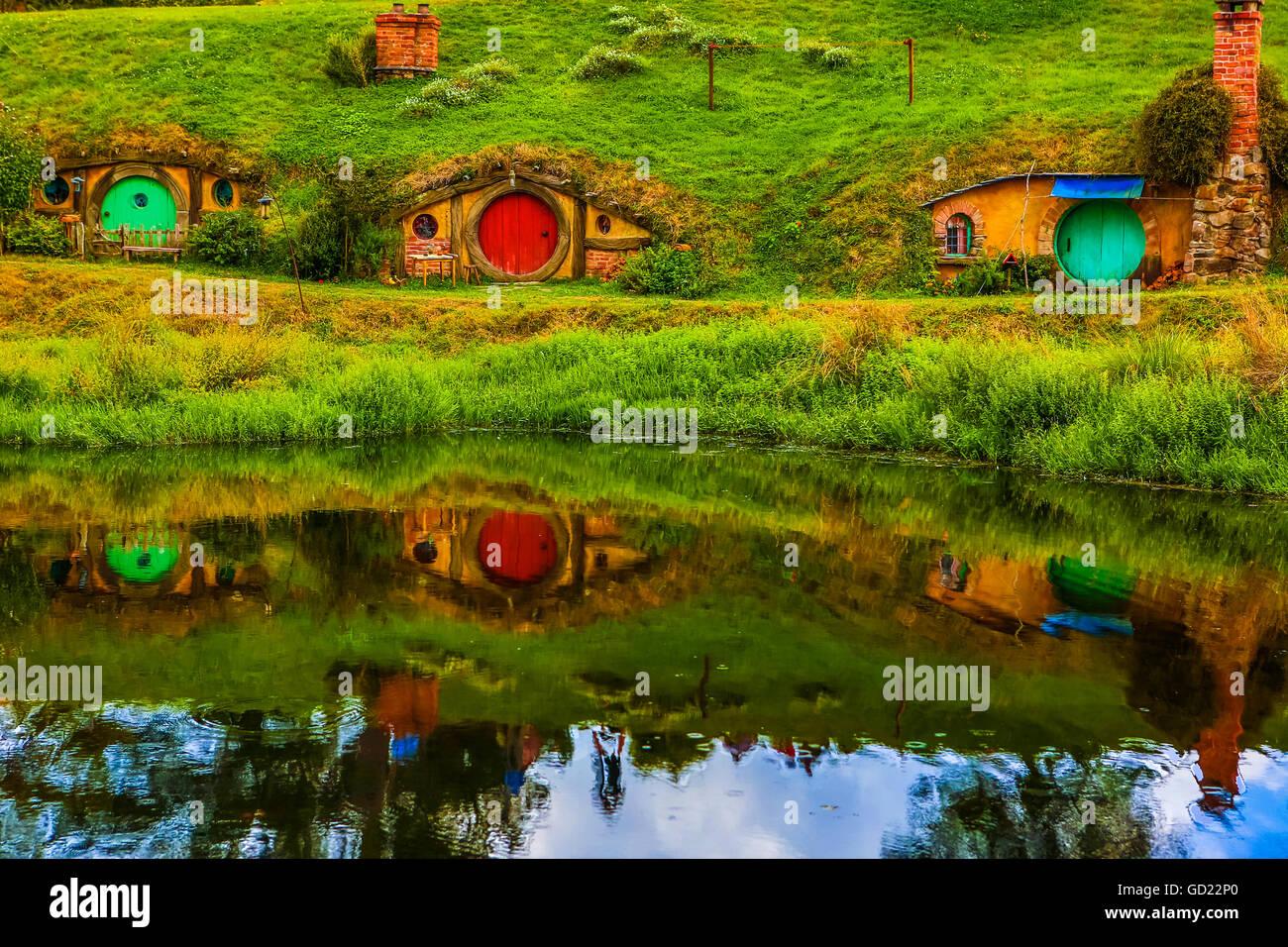 hobbit h user hobbingen north island neuseeland pazifik stockfoto bild 111298824 alamy. Black Bedroom Furniture Sets. Home Design Ideas