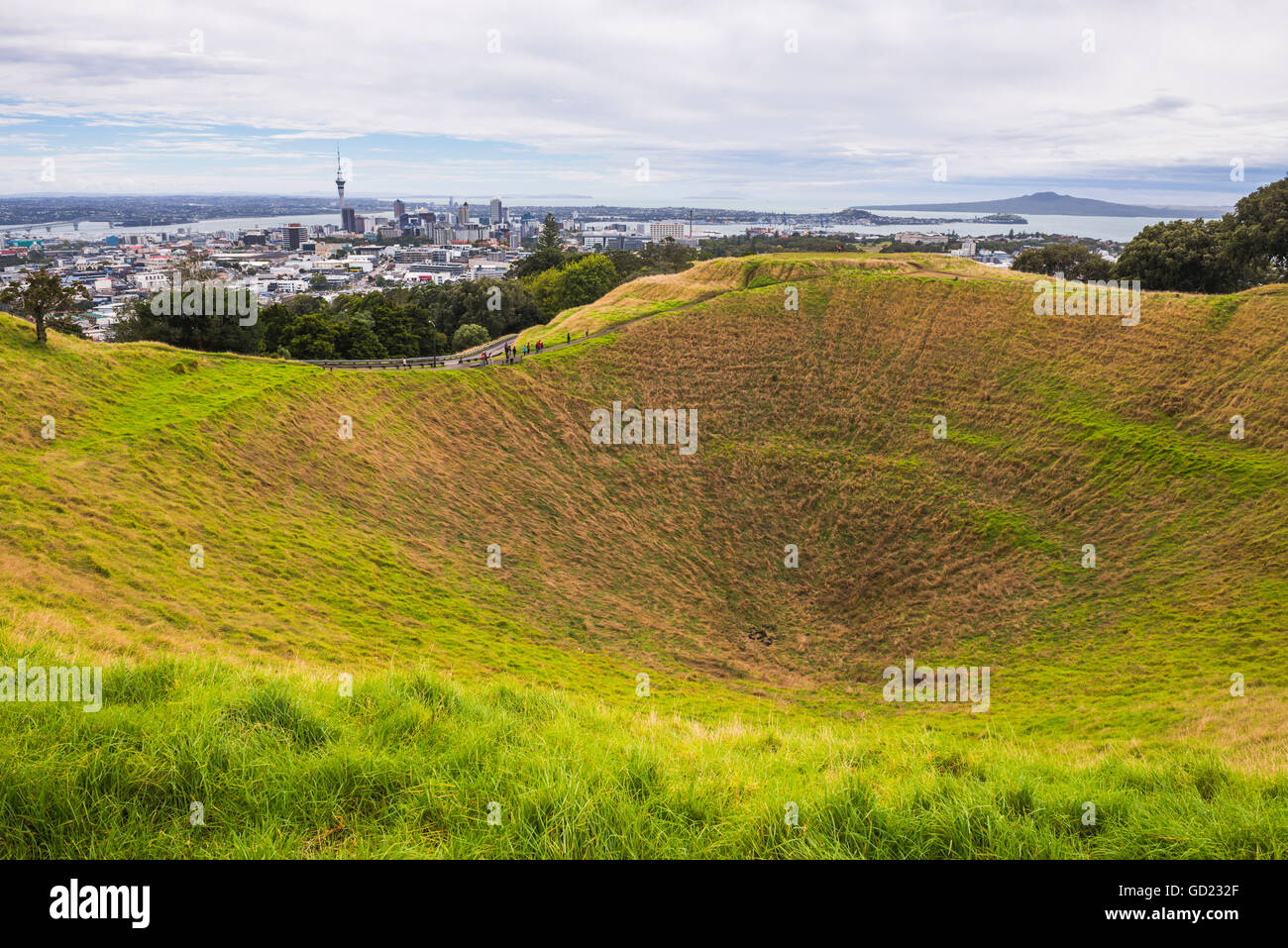 Mount Eden, Auckland, Nordinsel, Neuseeland, Pazifik Stockfoto