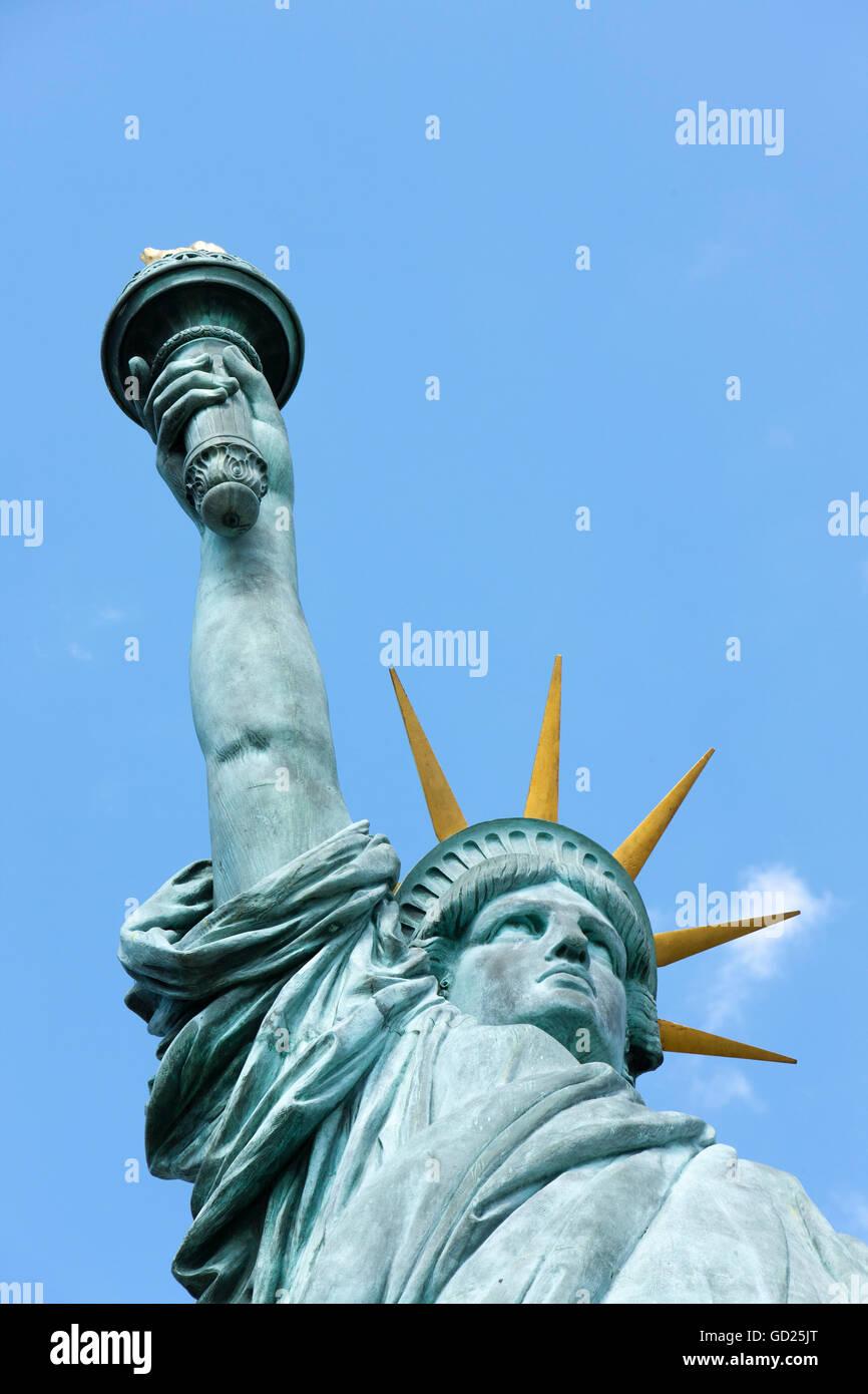 Statue of Liberty, Paris, Frankreich, Europa Stockbild