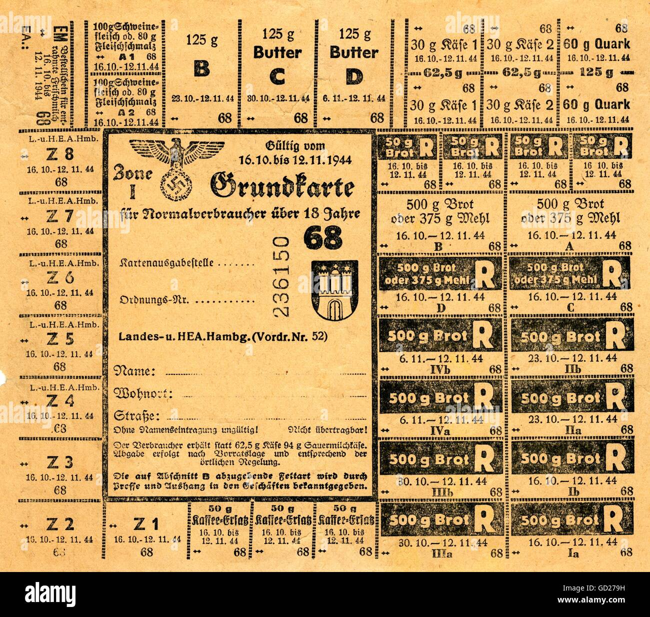 Ration Cards Stockfotos & Ration Cards Bilder - Seite 2 - Alamy