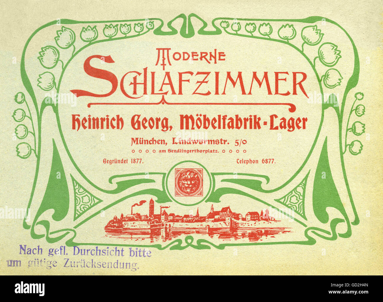 Werbung, Möbel, moderne Schlafzimmer, Heinrich Georg Firma ...