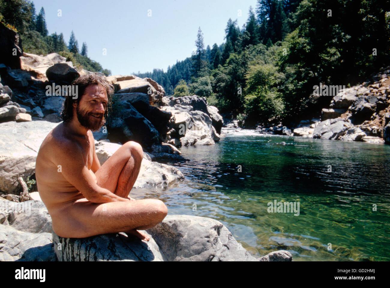 Gary Snyder, Juli 1969. Stockbild