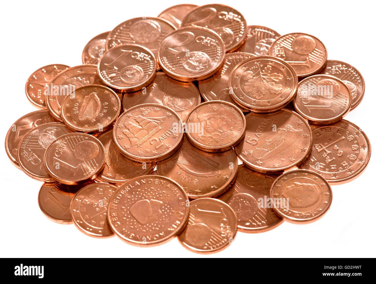 Geldfinanzen Münzen Minze Frisch Cent Münzen Erste Neue Cent