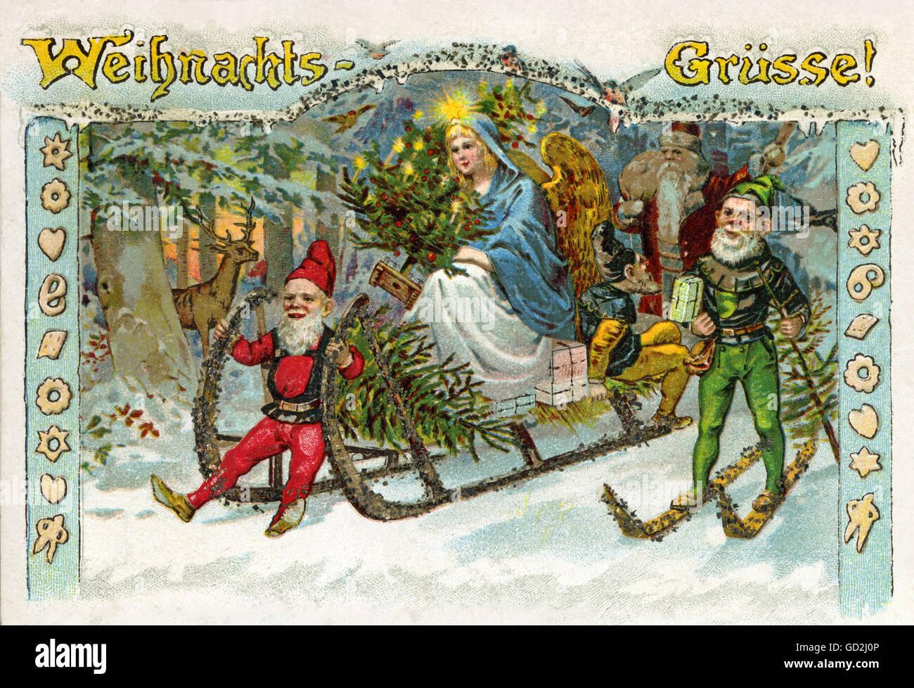 Weihnachtsgrüße Christkind.Weihnachten Weihnachtsgrüße Das Christkind In Der Nacht Auf Einem