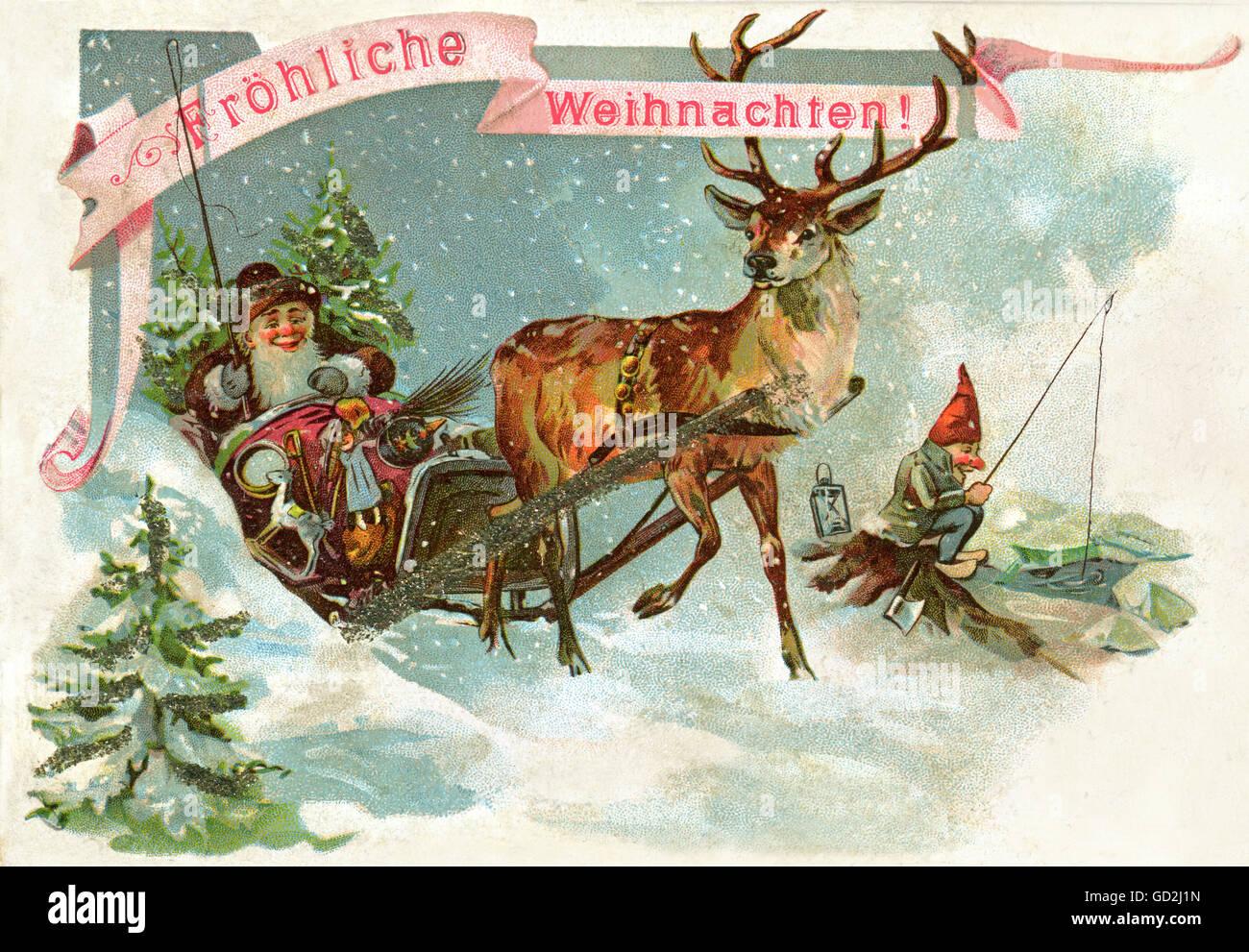 Frohe Weihnachten Aus Deutschland.Weihnachten Weihnachtsmann Frohe Weihnachten Postkarte