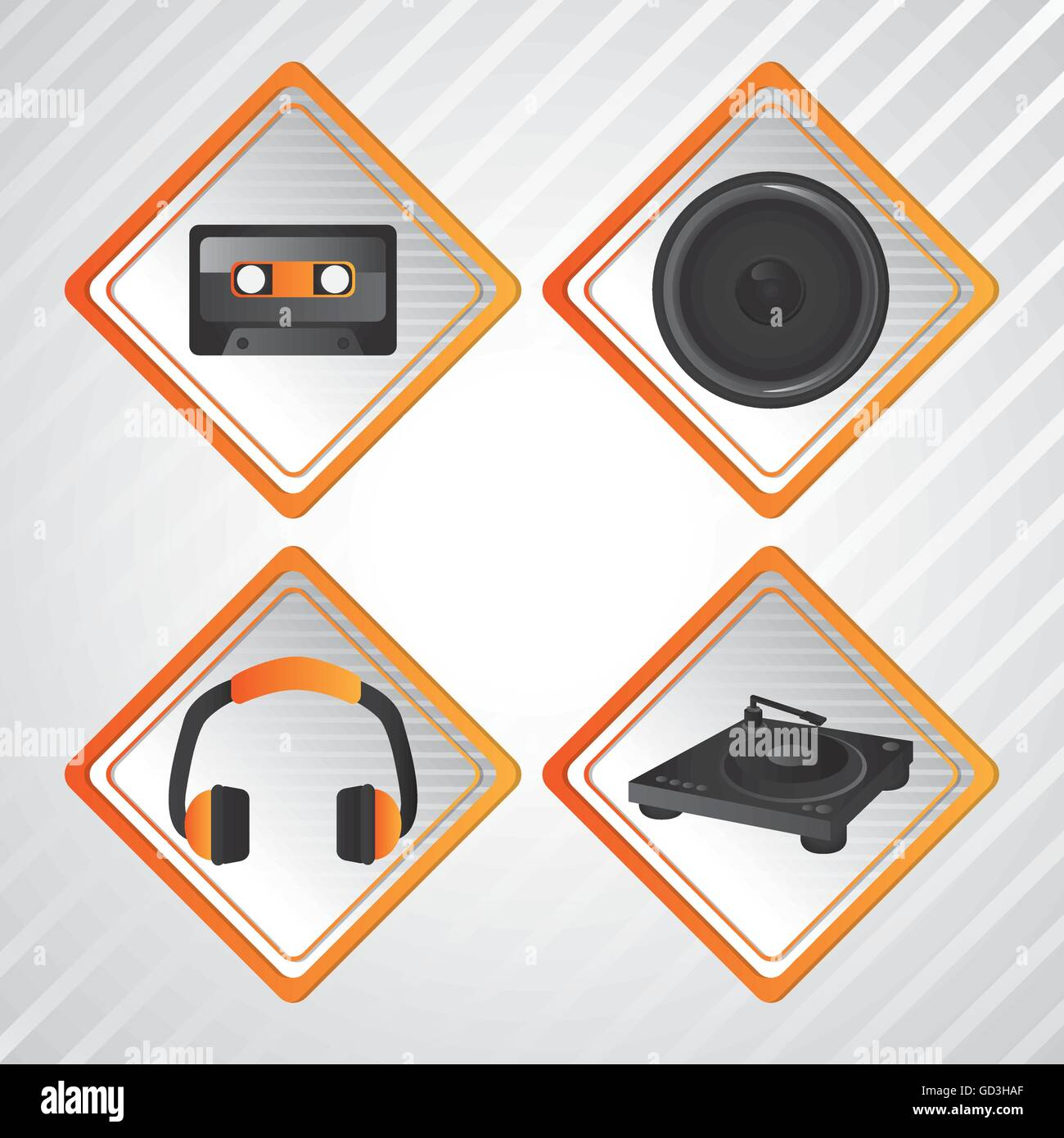 Headphone Icon Dance Music Design Stockfotos & Headphone Icon Dance ...