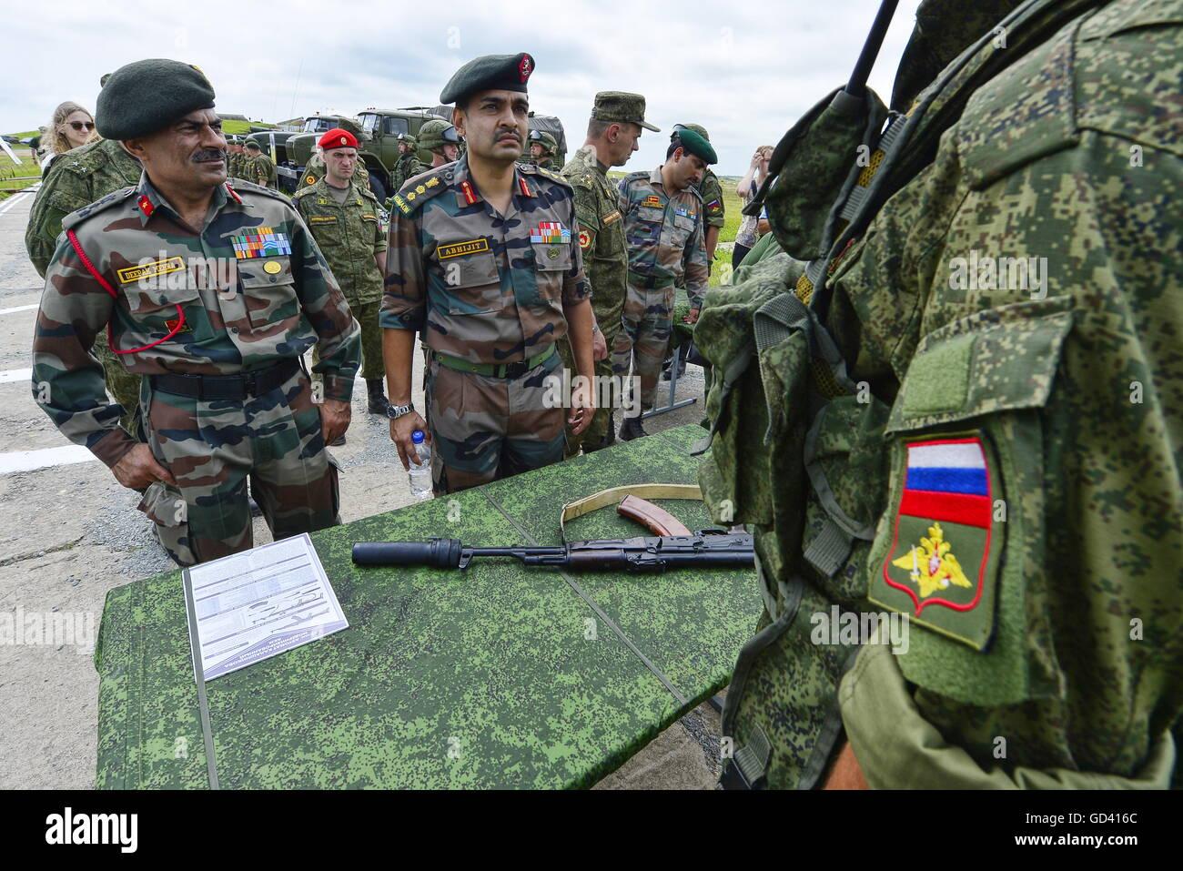 Primorje-Gebiet, Russland. 12. Juli 2016. Militär-Attache ...
