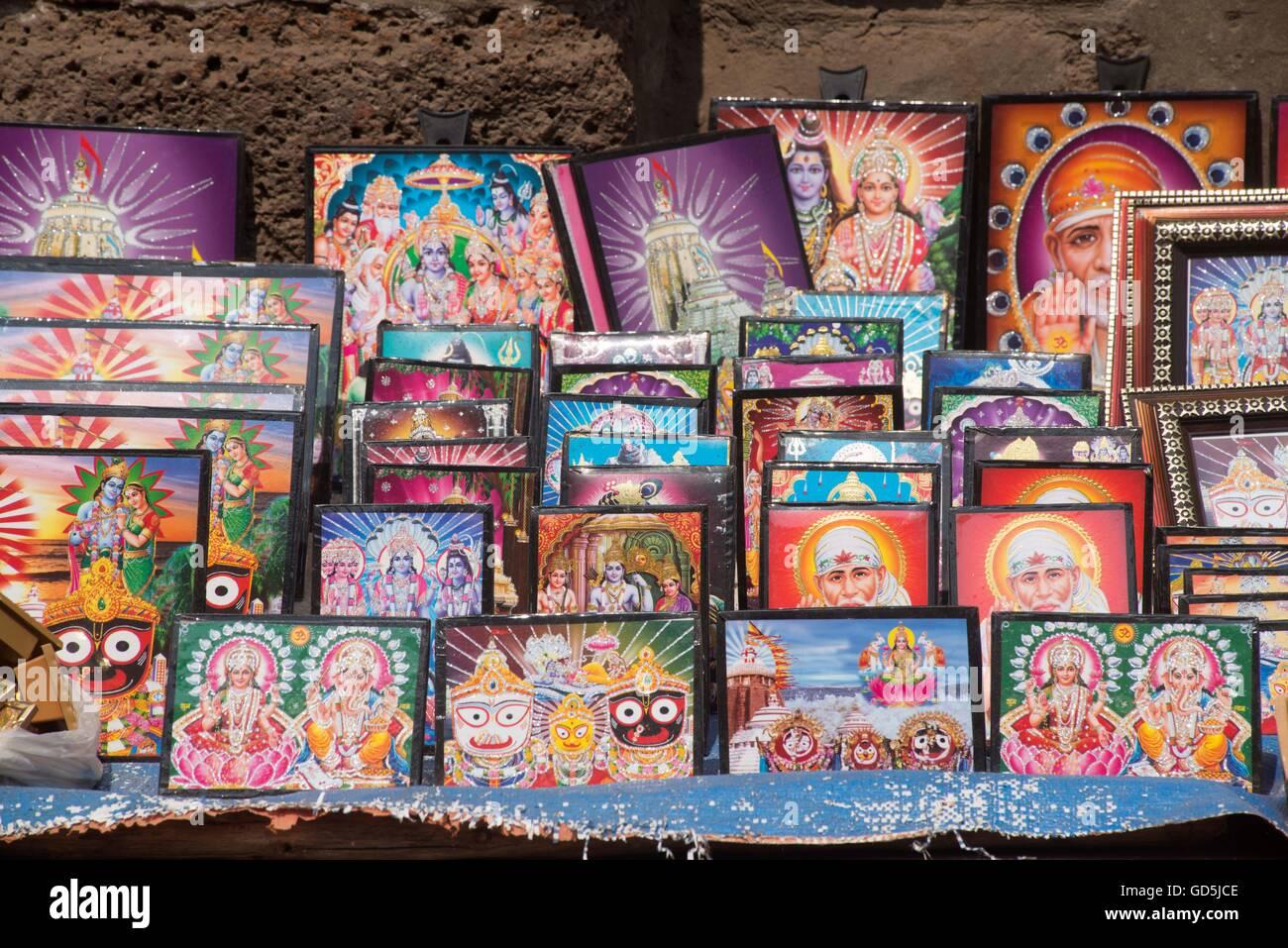Laminierte Bilderrahmen der Götter gehalten für Verkauf, Puri ...