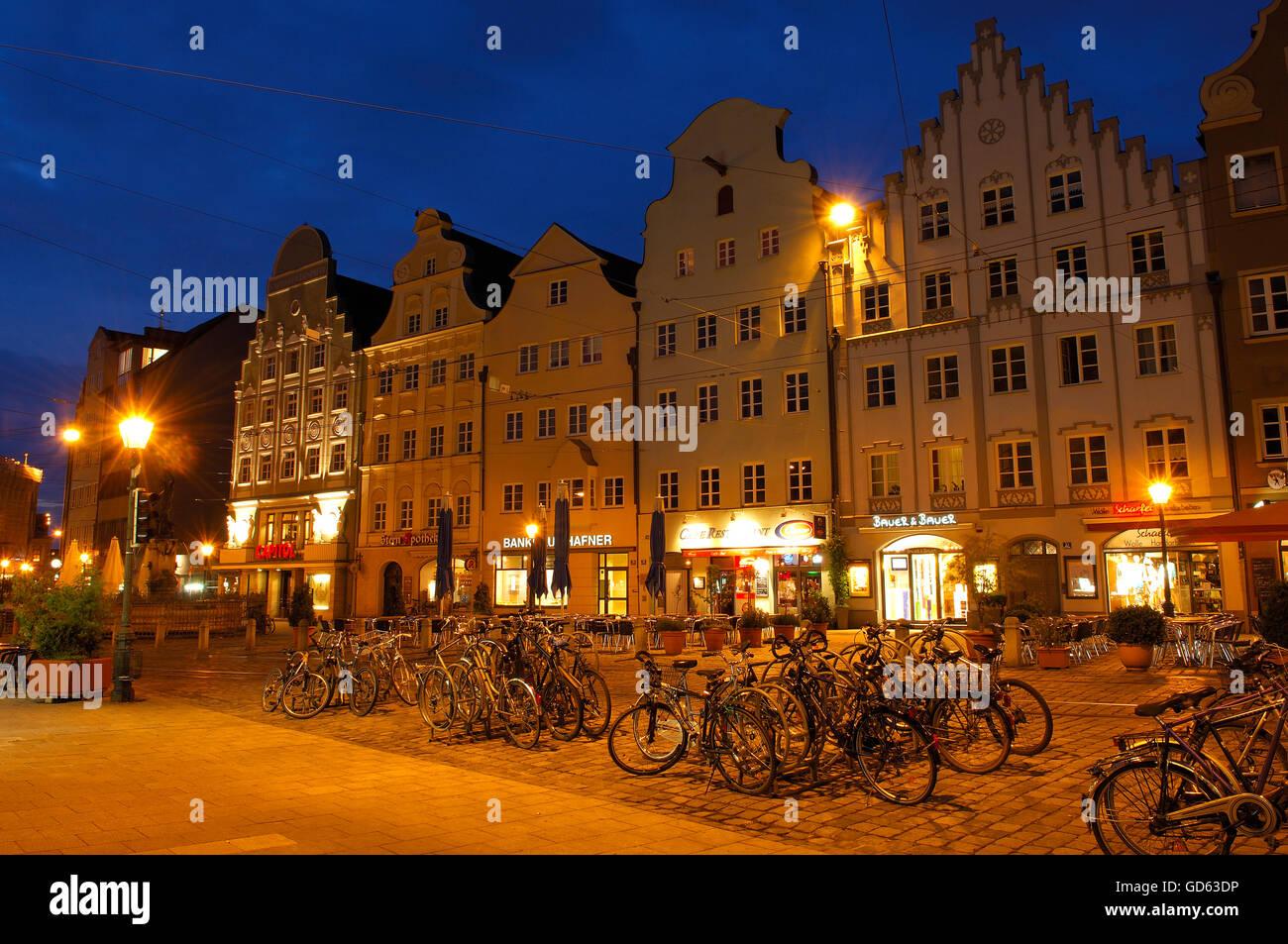 Augsburg, Maximilianstraße, Maximilianstraße, romantische Straße, Romantische Strasse, Schwaben, Stockbild