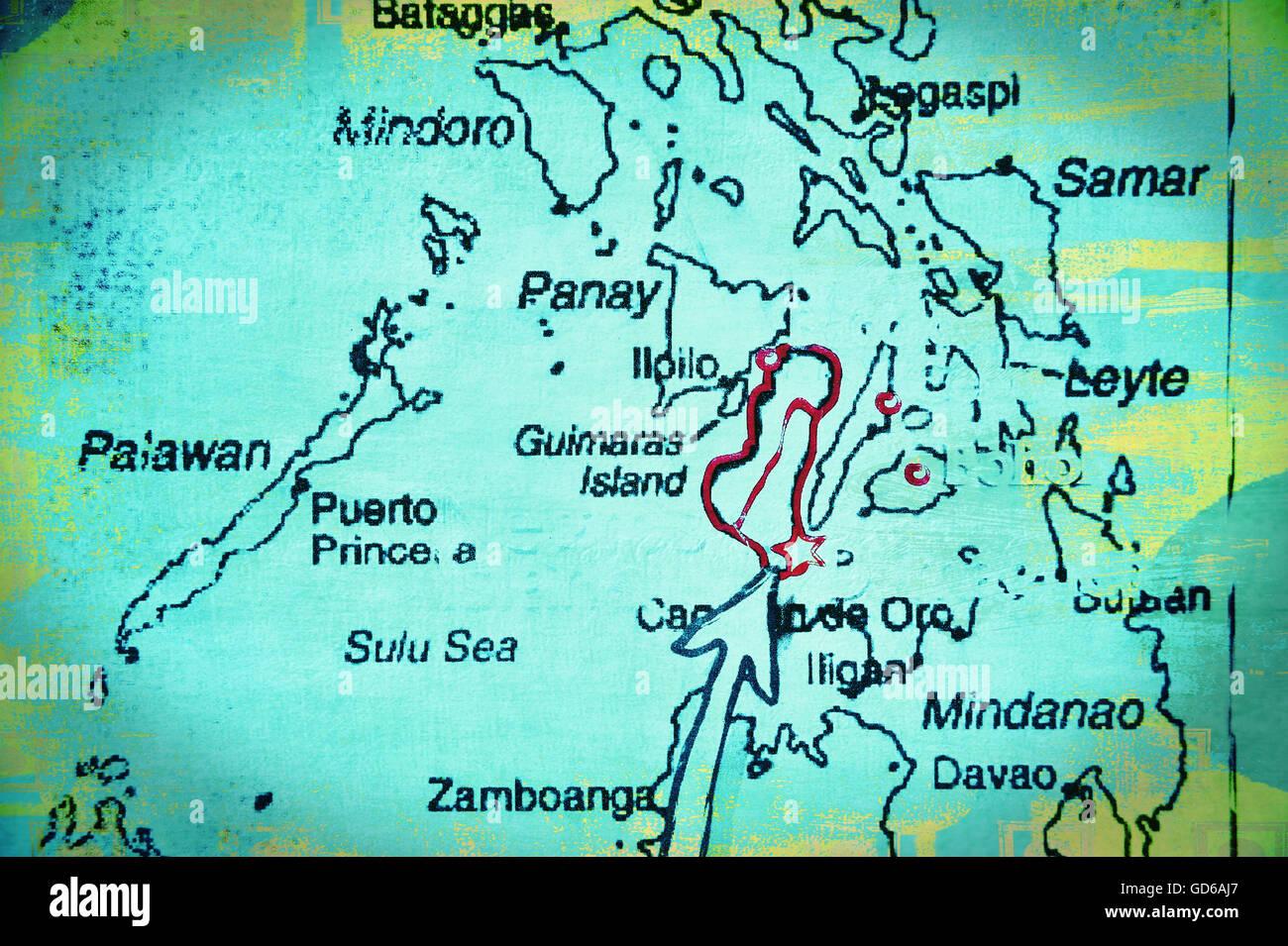 Karte Philippinen.Karte Von Der Visayas Philippinen Asien Stockfoto Bild 111392799