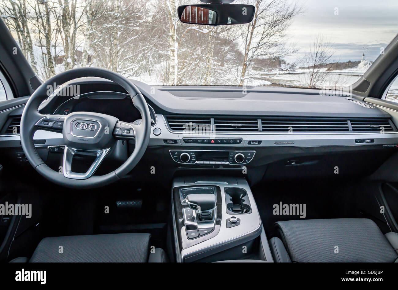 Audi Q7-Interieur Stockfoto, Bild: 111398890 - Alamy