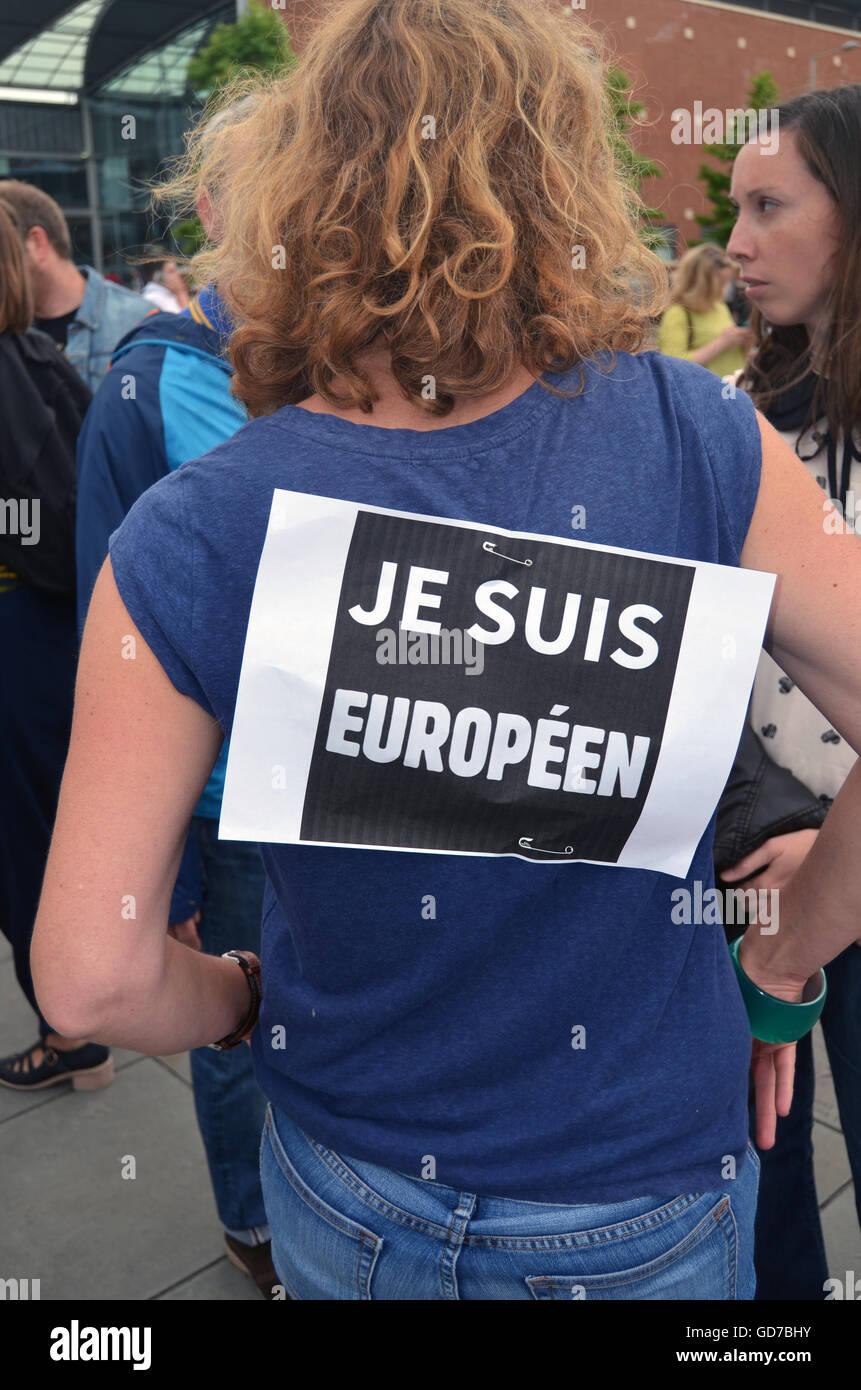 Pro EU-Kundgebung statt, nach dem Austritt Referendum für das Vereinigte Königreich stimmten zu verlassen, Stockbild