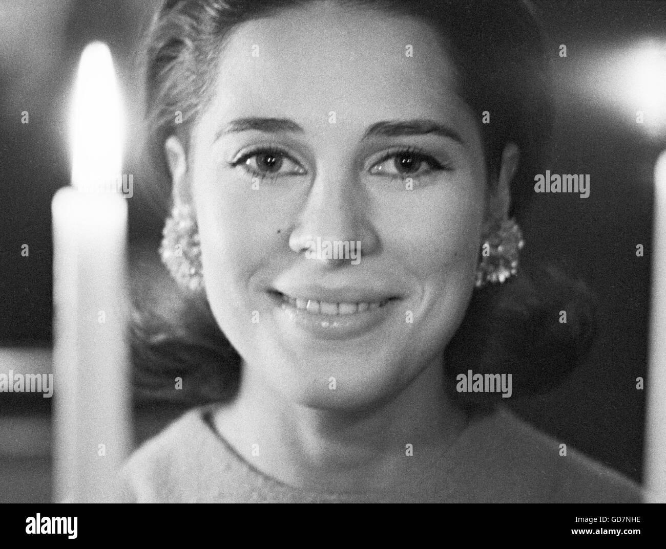 Joan Hackett, Golden Globe-Preisträgerin. Dieses Bild wurde im Januar 1963 aufgenommen. Stockbild