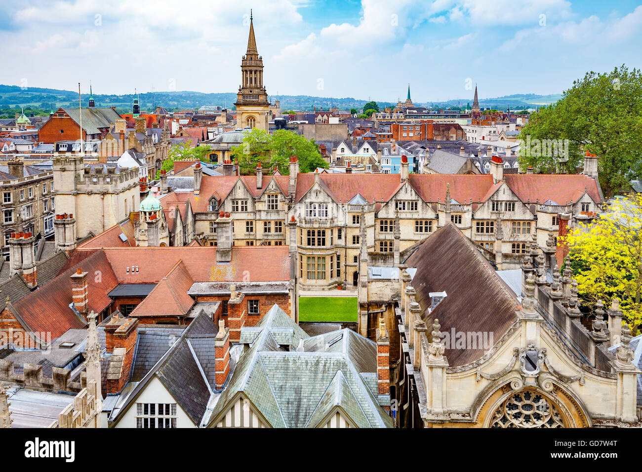 Oxford Stadtbild. England Stockbild