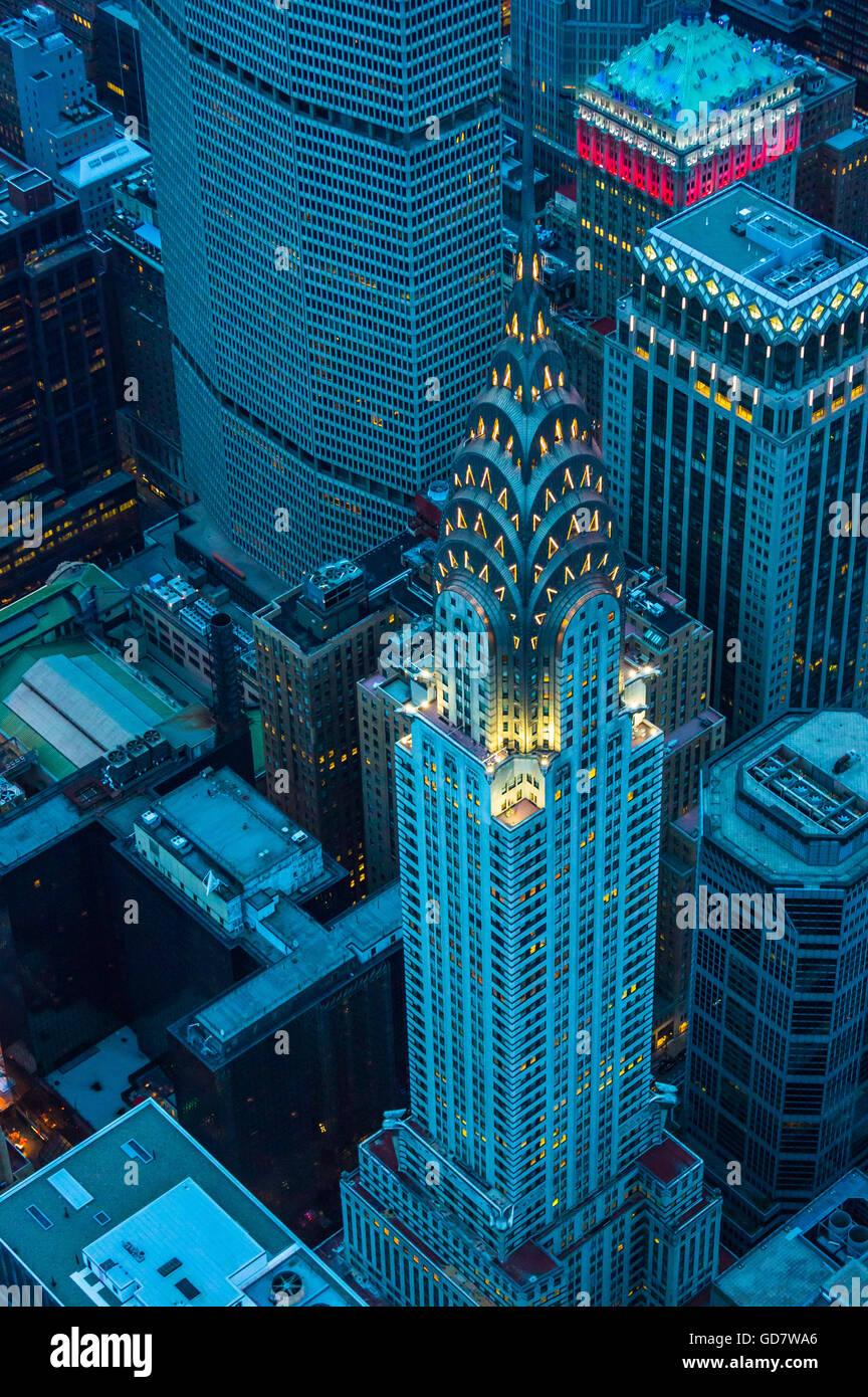 Das Chrysler Building ist eine Art Déco-Hochhaus befindet sich auf der East Side von Midtown Manhattan in New Stockbild