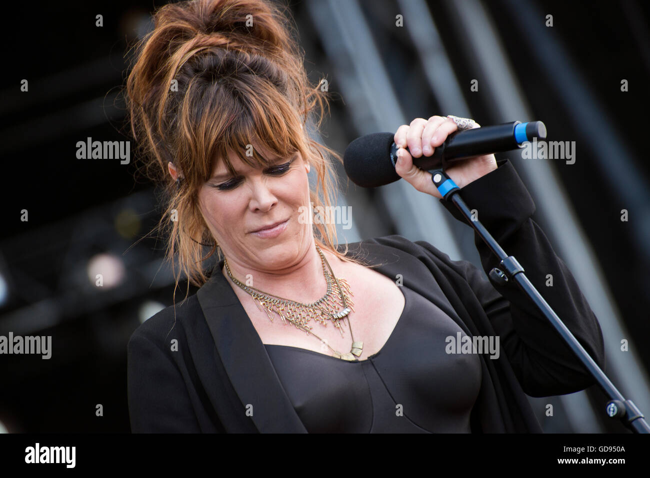 Pori, Finnland. 14. Juli 2016. Amerikanischer Sänger / Songwriter Beth Hart auf dem 51. Pori ...