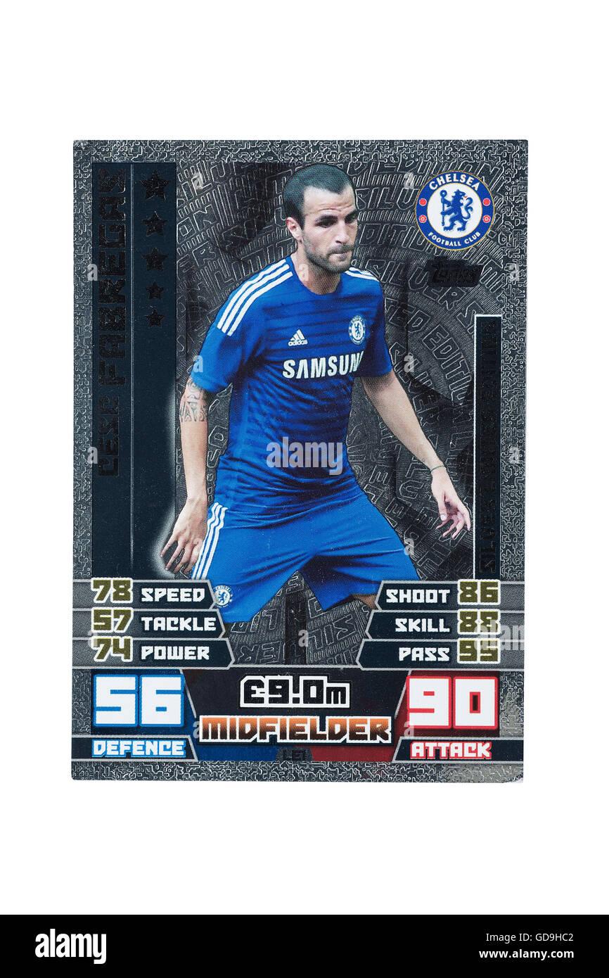 Ein Fußballspiel angreifende Karte auf weißem Hintergrund Stockbild