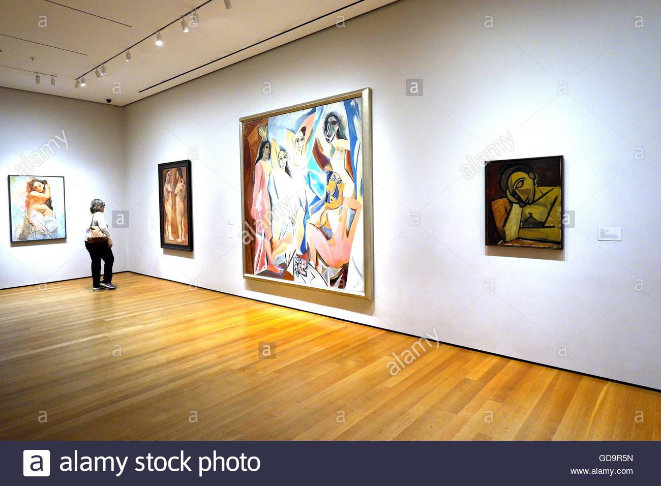 USA, New York City, Interieur des Museum für moderne Kunst - MOMA ...