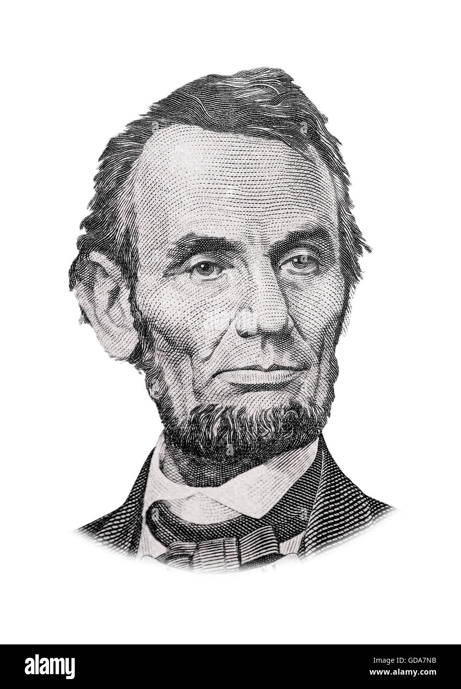 Graustufen Zeichnung von US-Präsident Abraham Lincoln Stockbild