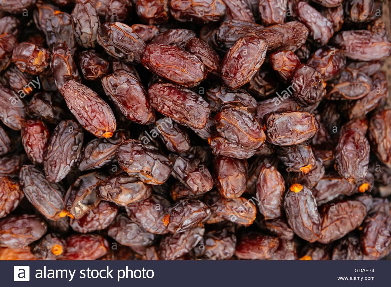Getrocknete Bio Datum Früchte Hintergrund Stockbild