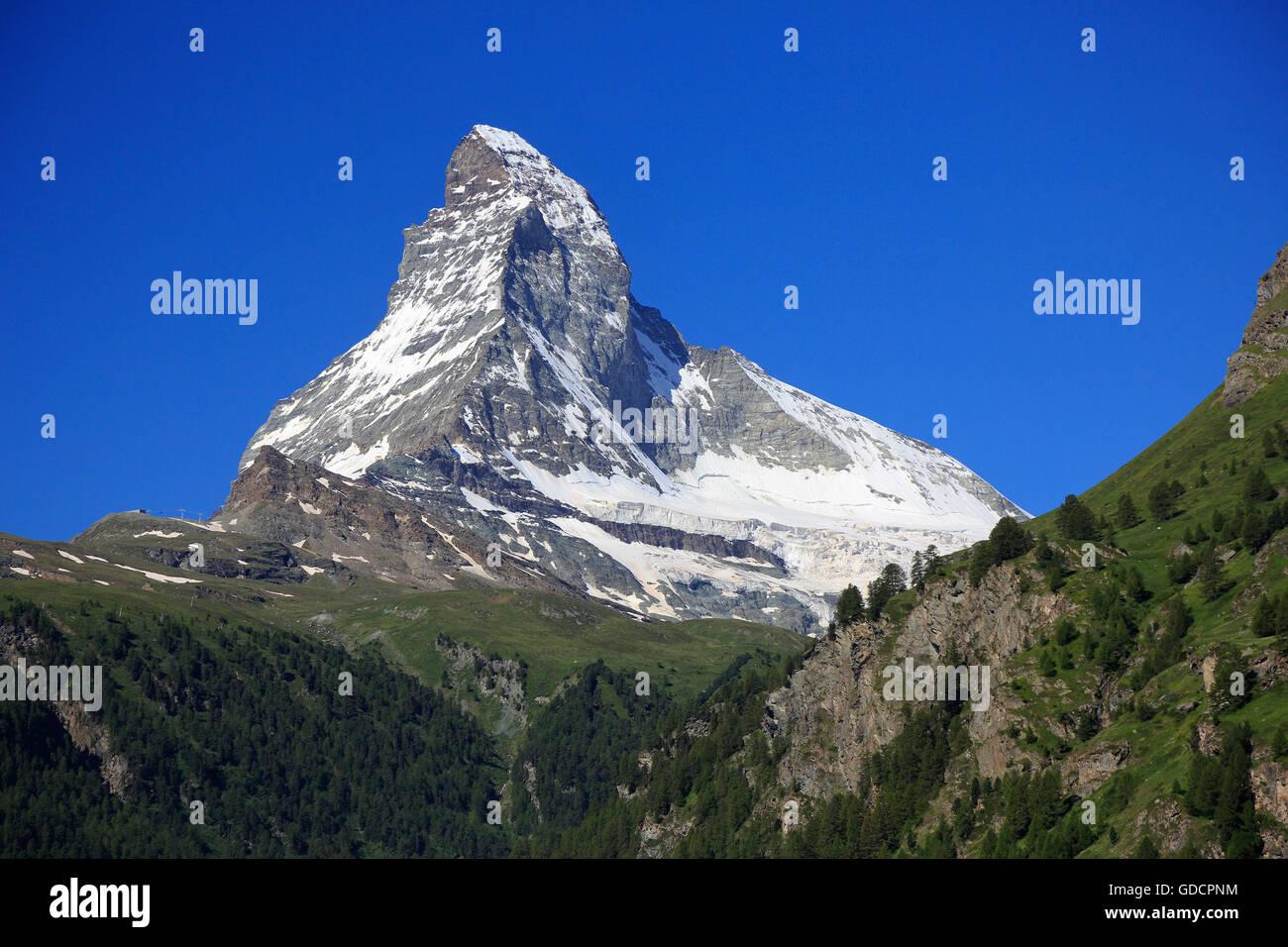 Matterhorn, Schweiz Stockbild