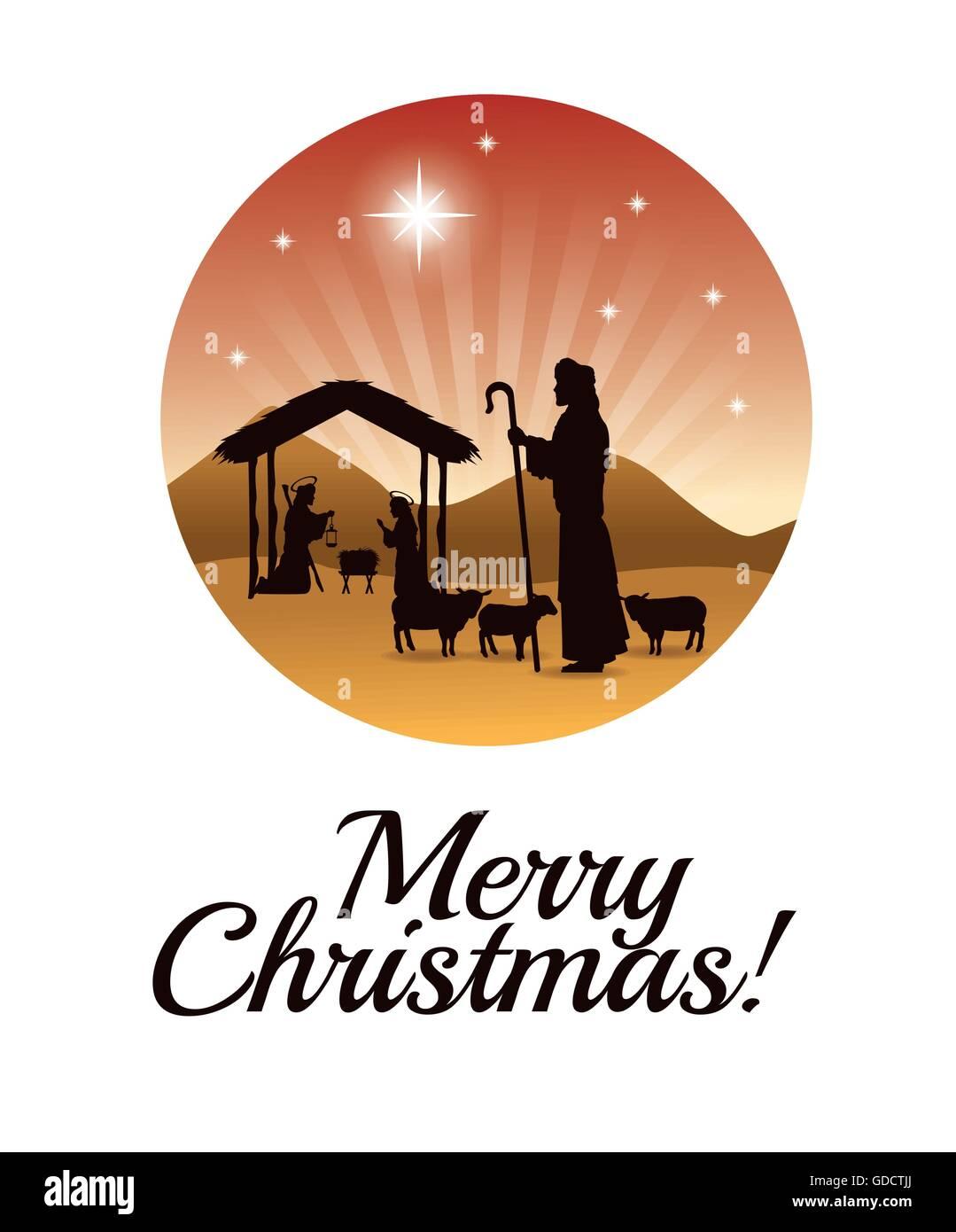 Frohe Weihnachten Jesus.Joseph Maria Und Jesus Symbol Frohe Weihnachten Design