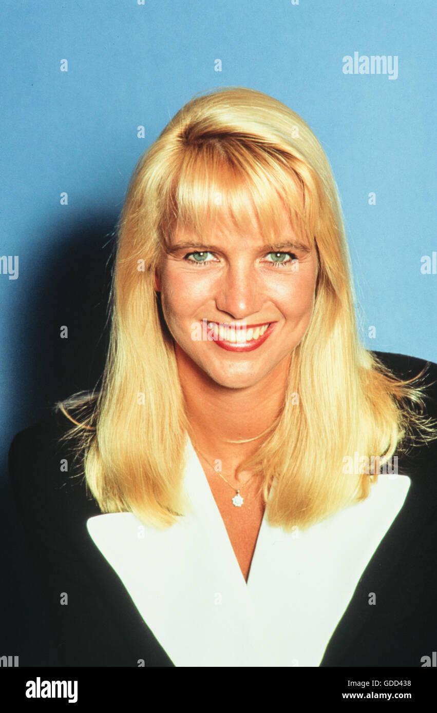 Mol, Linda de, *8.7.1964, deutsch/niederländischen Presenter, Porträt, 1990 s, Additional-Rights-Spiel Stockbild