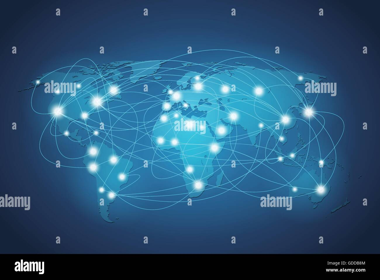 Globales Netzwerkverbindung Stockbild