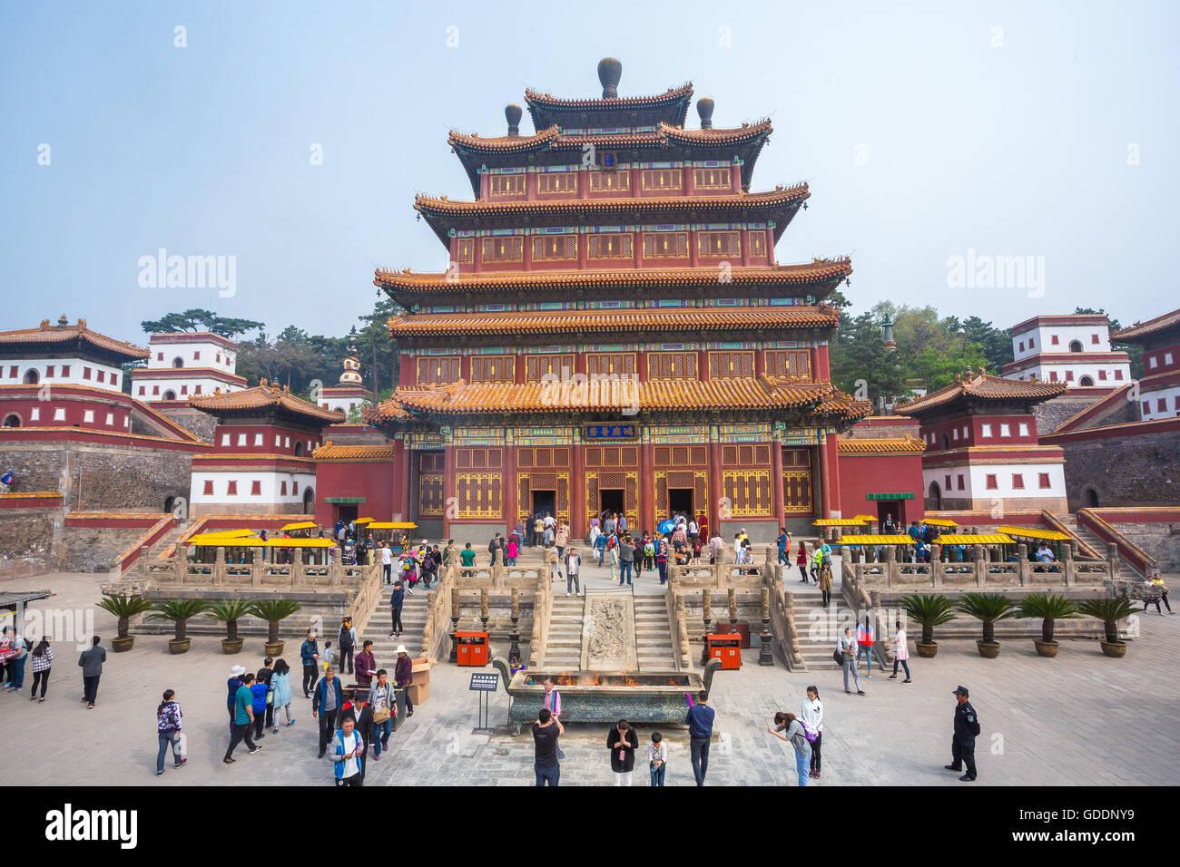 Tempel in China, Stadt Chengde, Wortspiele Stockbild
