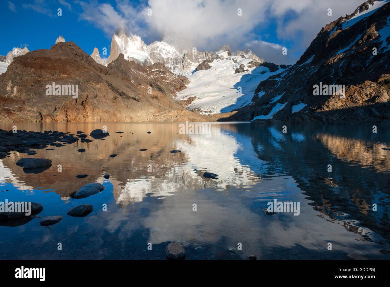 Laguna de Los Tres, Argentinien, Patagonien Stockbild