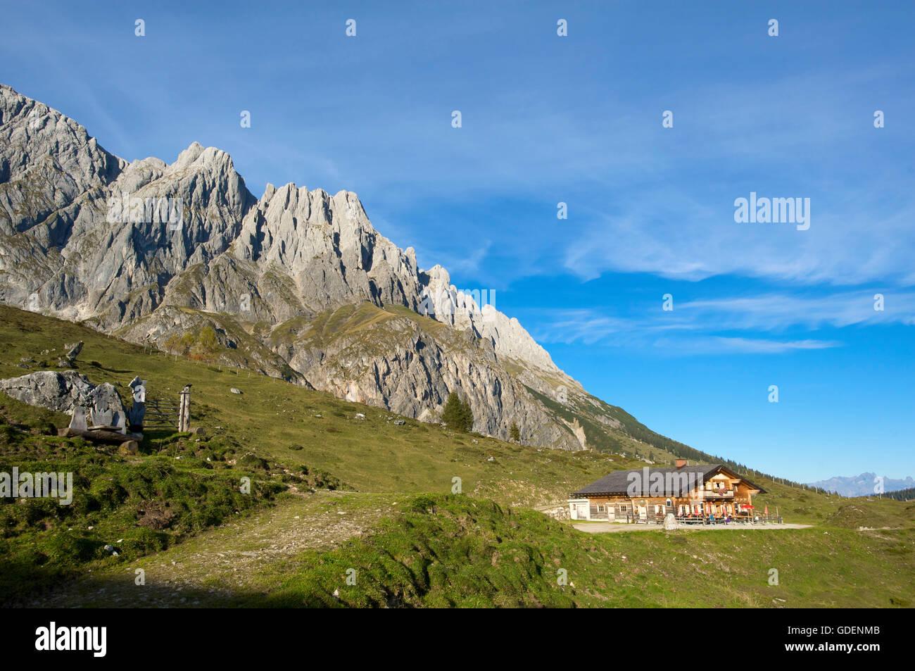 Berggasthaus, Dienten, Pinzgau, Salzburger Land, Österreich Stockbild