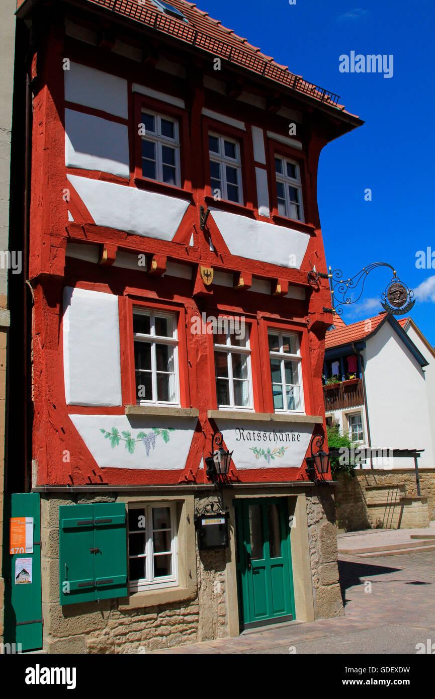 Ratsschaenke, Eppingen, Baden Württemberg, Deutschland Stockfoto ...