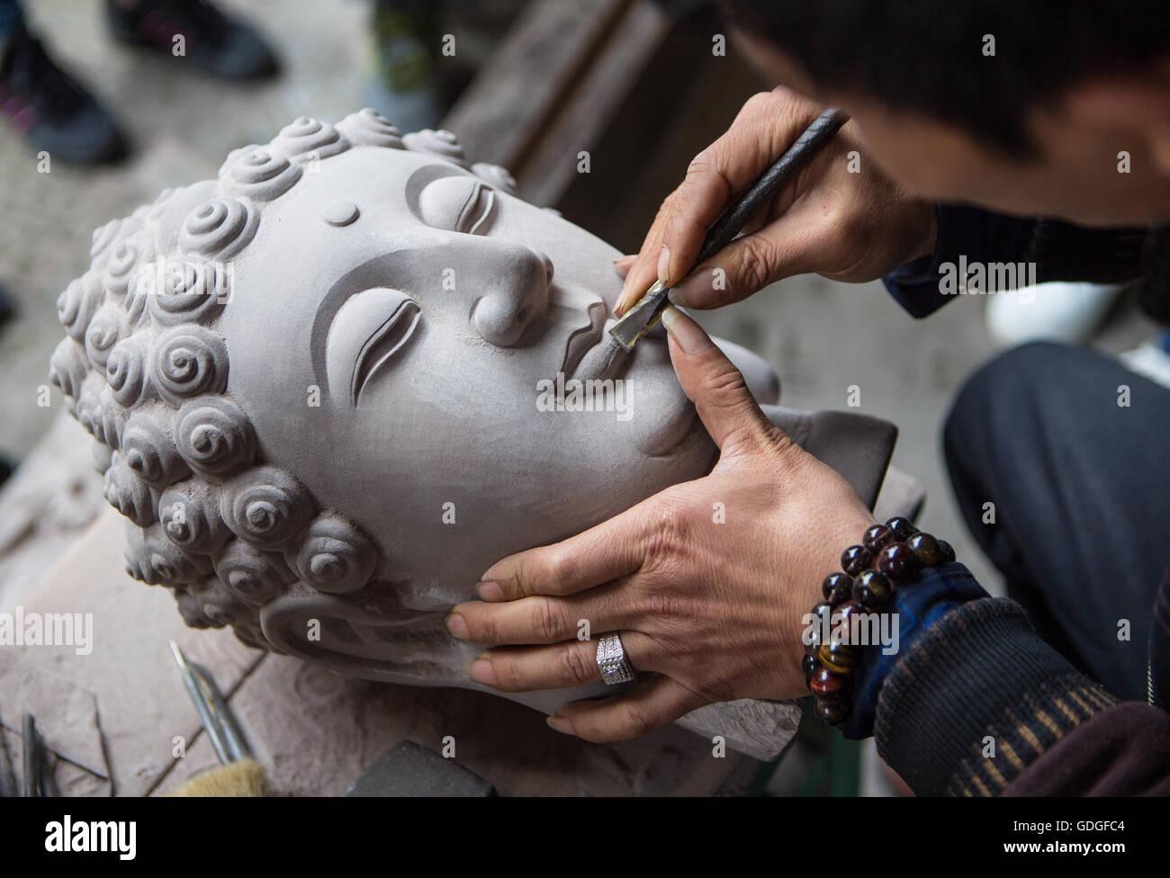 Künstler der Stadt Chongqing, China Stockbild