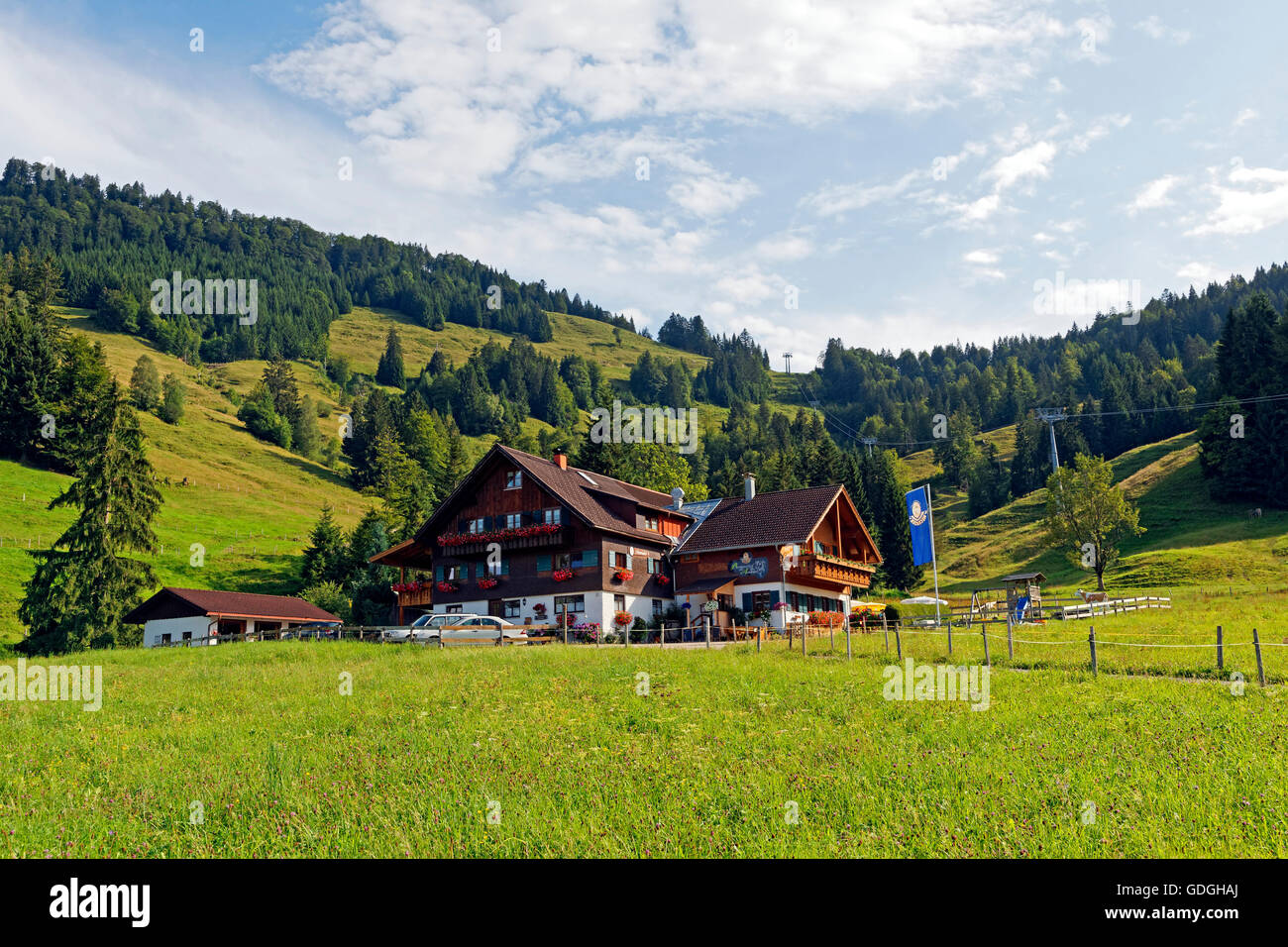 Mountain Inn Auwinkel Stockbild