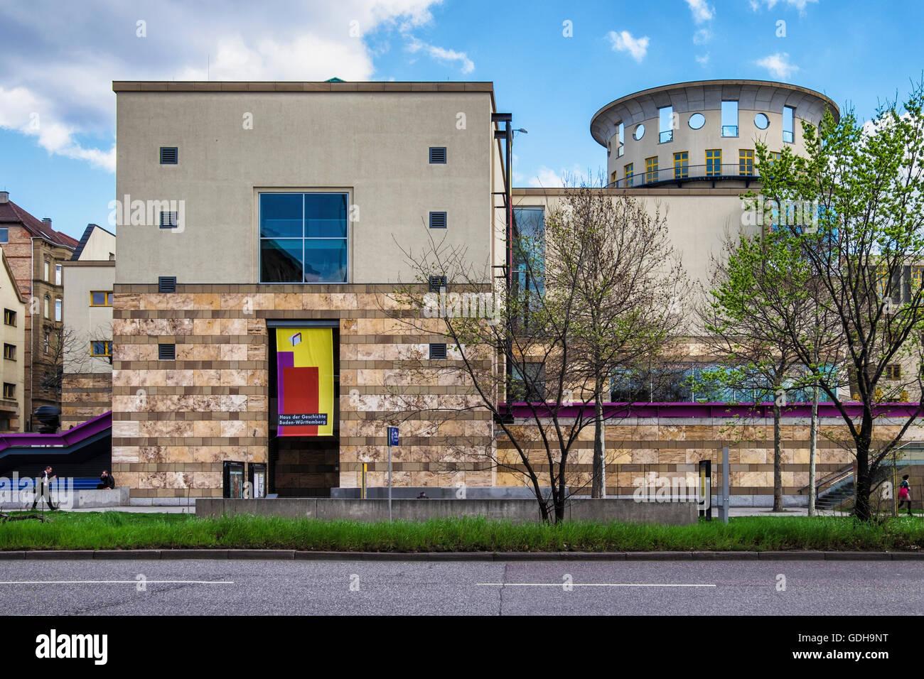 Stuttgart Haus der Geschichte Museum. Modernes Gebäude mit Ausstellungen mehr als 2 Jahrhunderten der Regionalgeschichte Stockbild