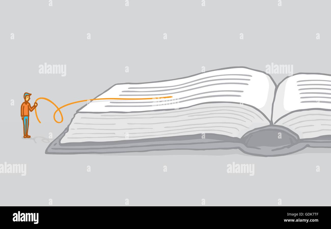 Cartoon Illustration Der Kleine Mann Verständnis Und Die
