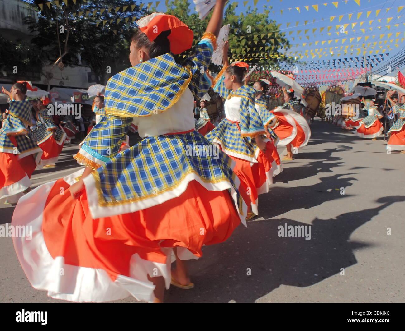 Koronadal, Philippinen. 18. Juli 2016. Die 50. Golden Anniversary of South Cotabato in Mindanao gipfelt mit der Stockbild