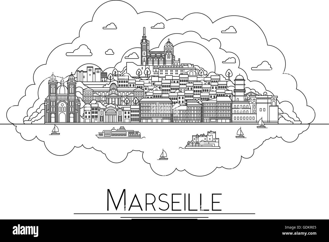 Contour Marseille Ville Dessin