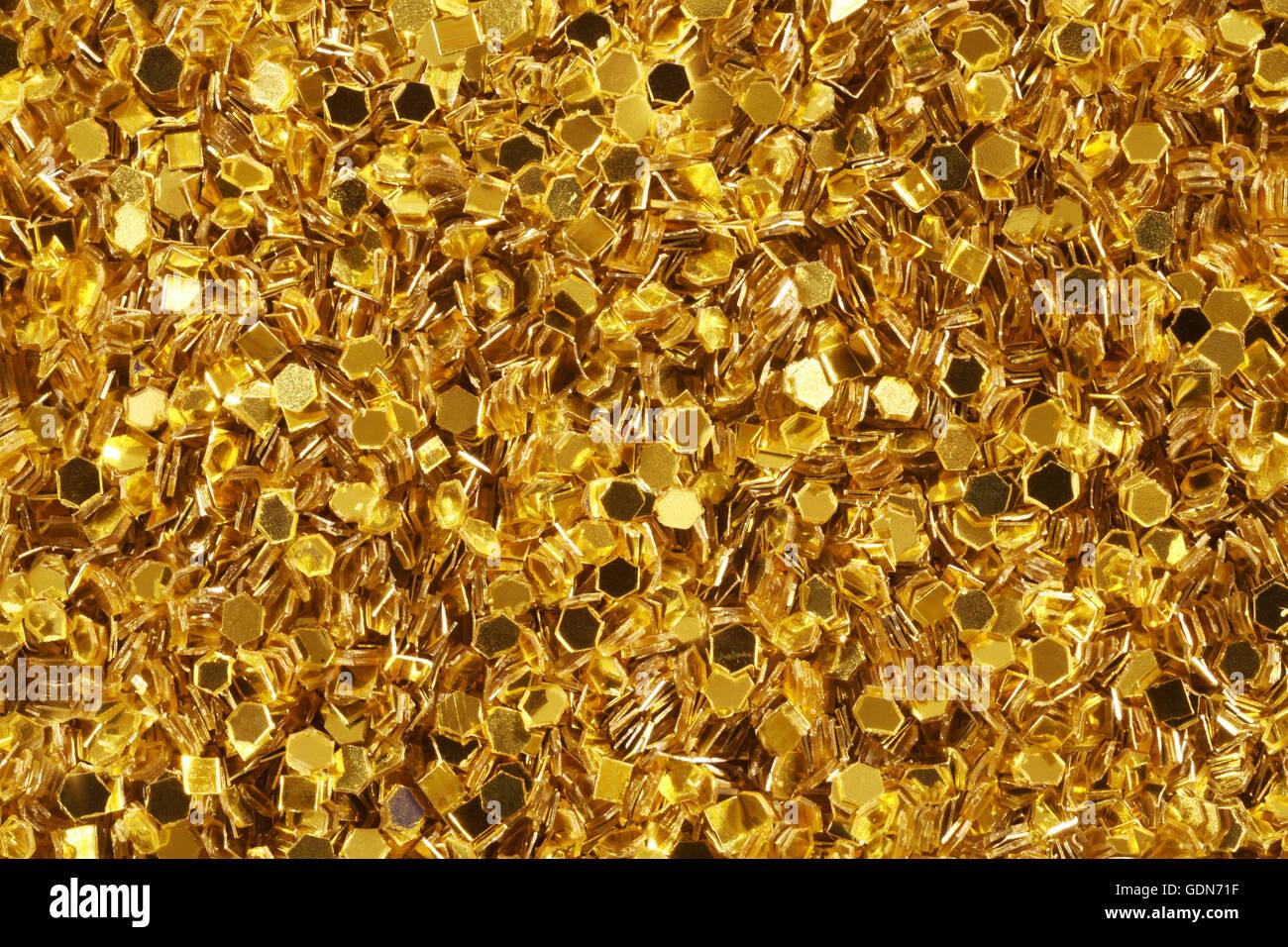 Gold-Glitter Stockbild